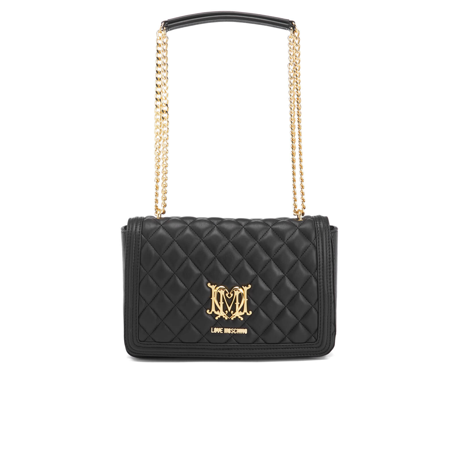dadf40a56d4c Love Moschino Women s Quilted Chain Tote Bag - Black - Free UK Delivery  over £50