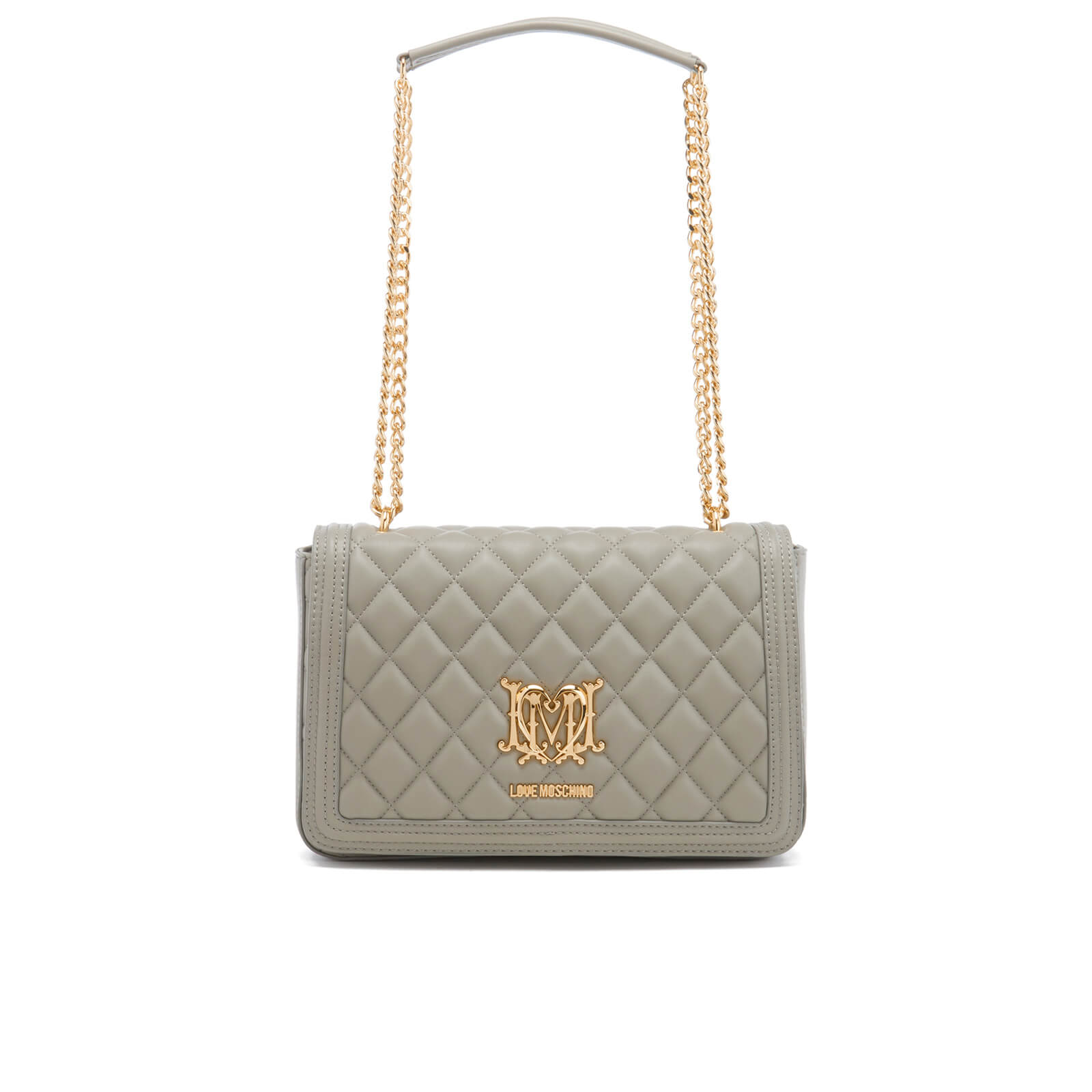 f5a41c79c617 Love Moschino Women s Quilted Chain Tote Bag - Grey - Free UK Delivery over  £50