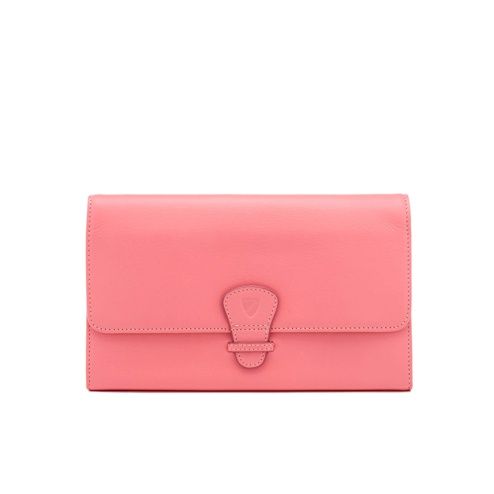 Aspinal of London Women's Classic Travel Smooth Blush Suede Wallet - Pink