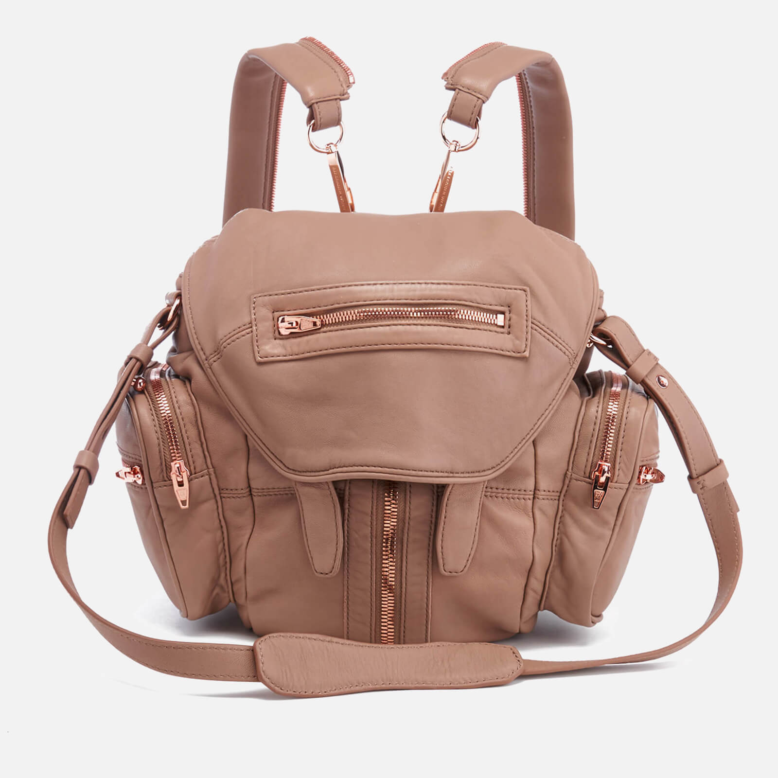 9f619e92e9 ... Alexander Wang Women s Mini Marti Latte Washed Leather Backpack - Latte