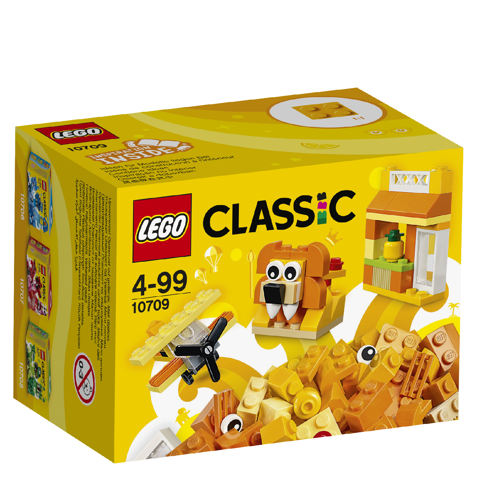 LEGO Classic: Boîte de construction orange (10709)