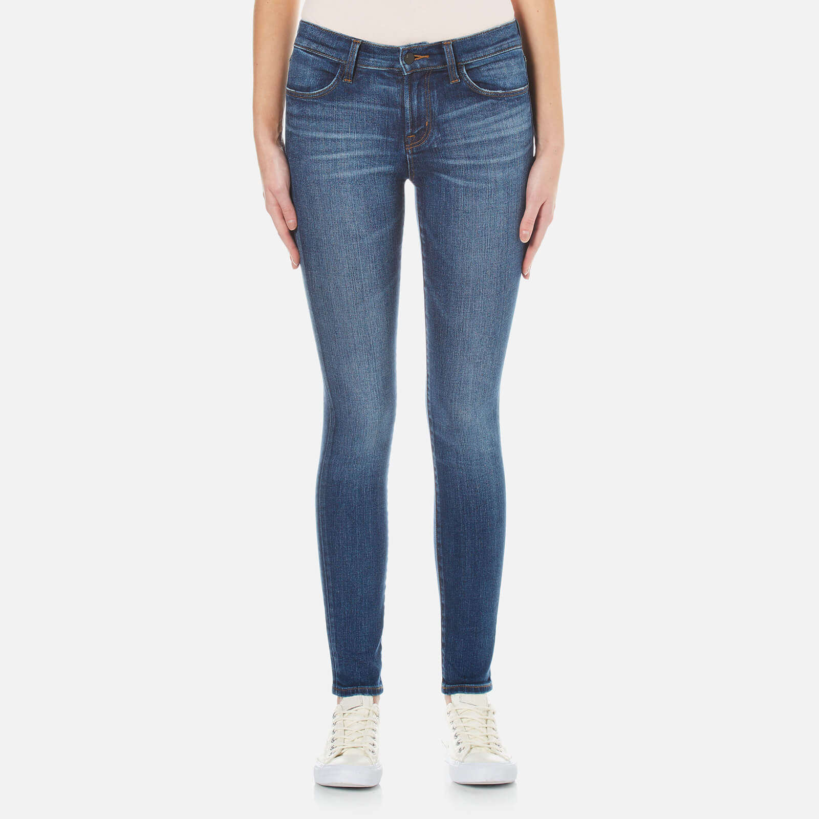 c3c3a7ffc8e4 J Brand Women s 620 Mid Rise Comfort Stretch Super Skinny Jeans - Decoy -  Free UK Delivery over £50