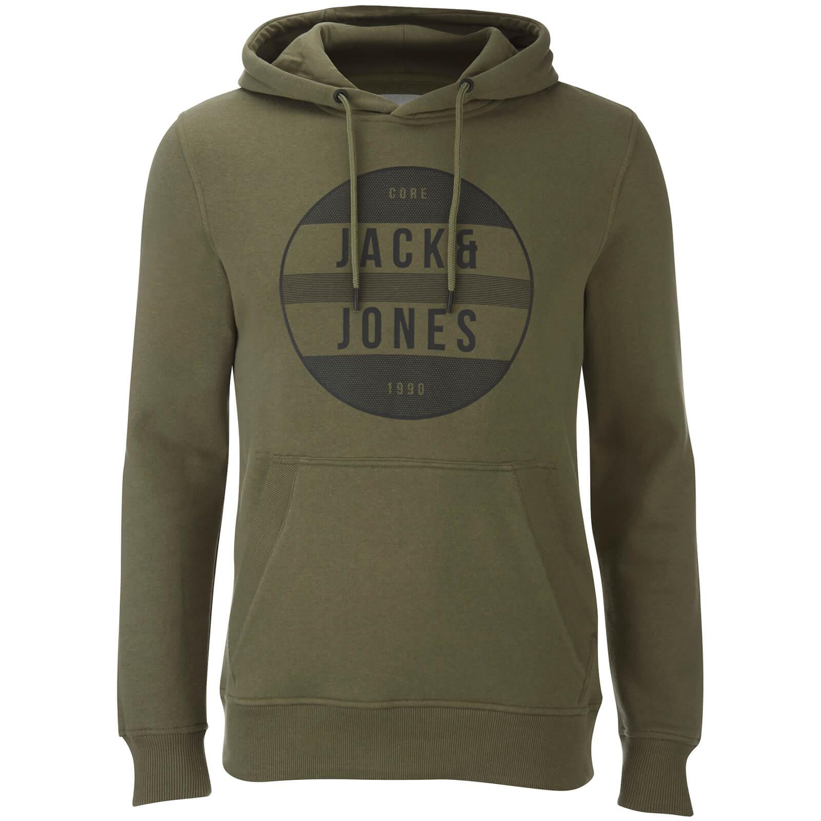 Jack & Jones Core Men's Trevor Graphic Hoody - Deep Green