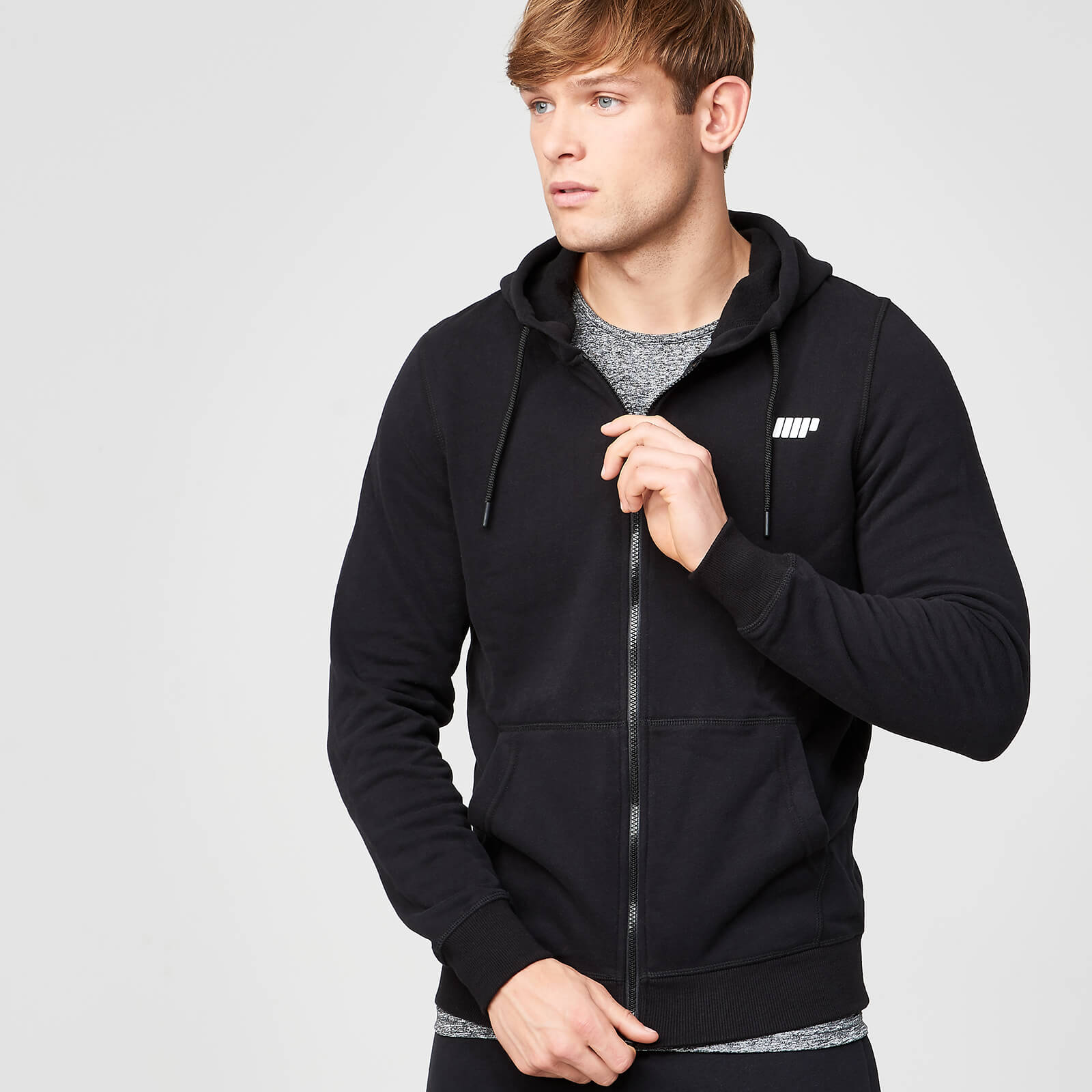 Tru-Fit Zip Up Hoodie - Black - XS