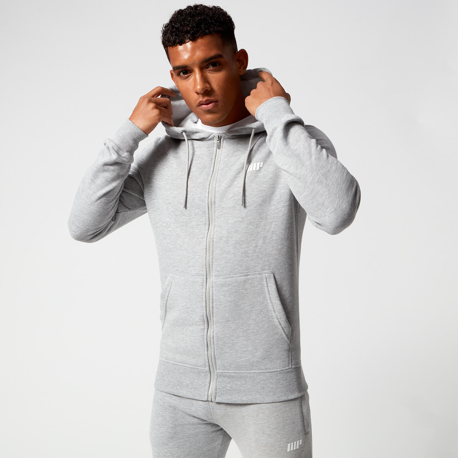 Myprotein Tru-Fit Zip Up Hoodie - Grey Marl - XS