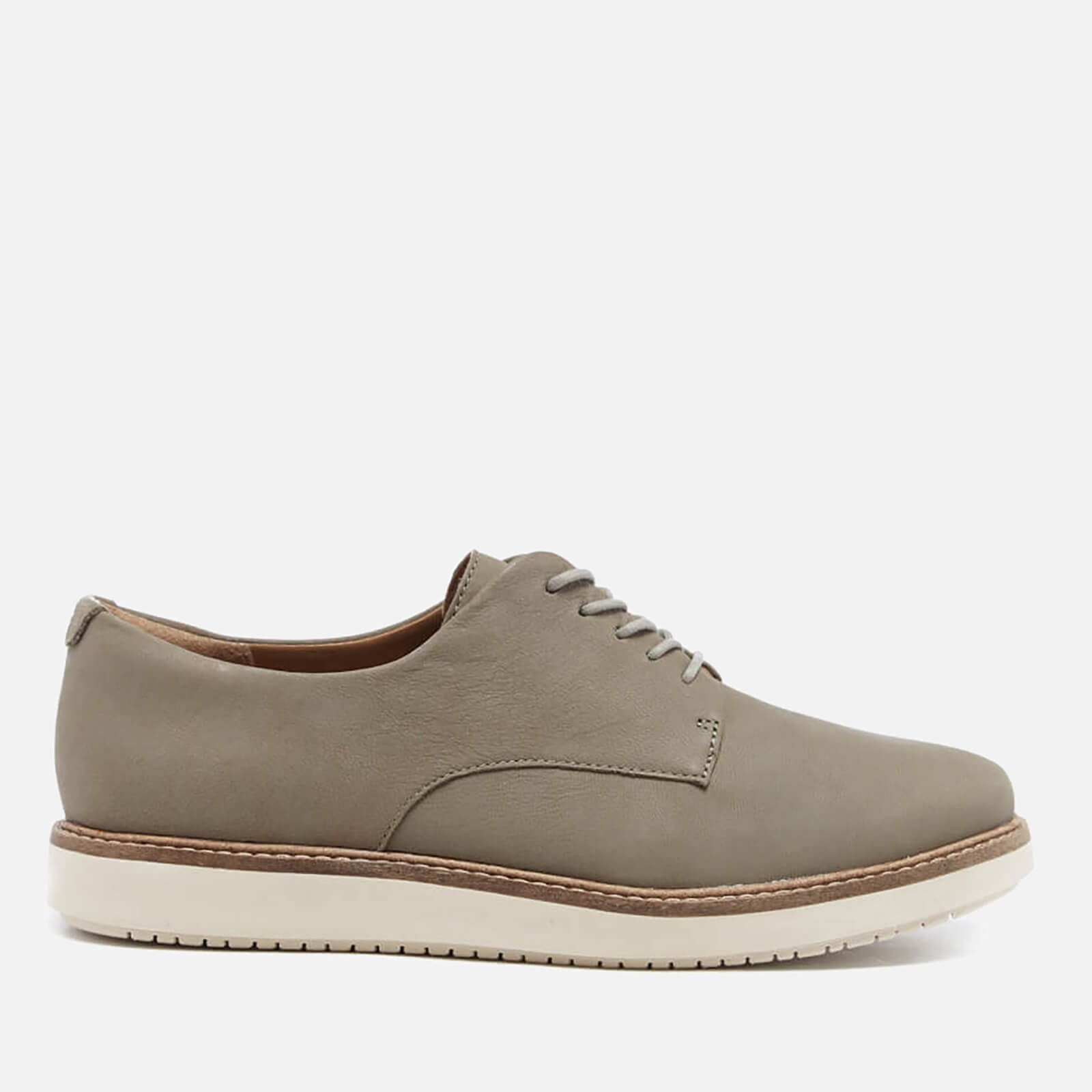Clarks Women's Glick Suede Darby Shoes Sage