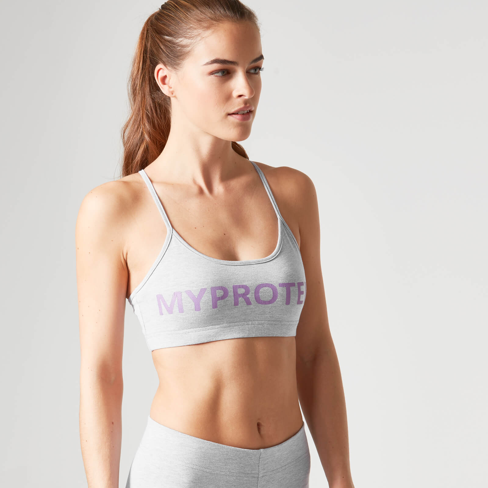 Logo Sports Bra - Grey, XL