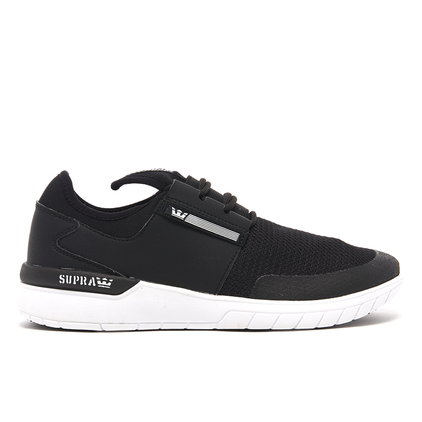 dfff3ecf9e63 Supra Men s Flow Run Trainers - Black White Mens Footwear