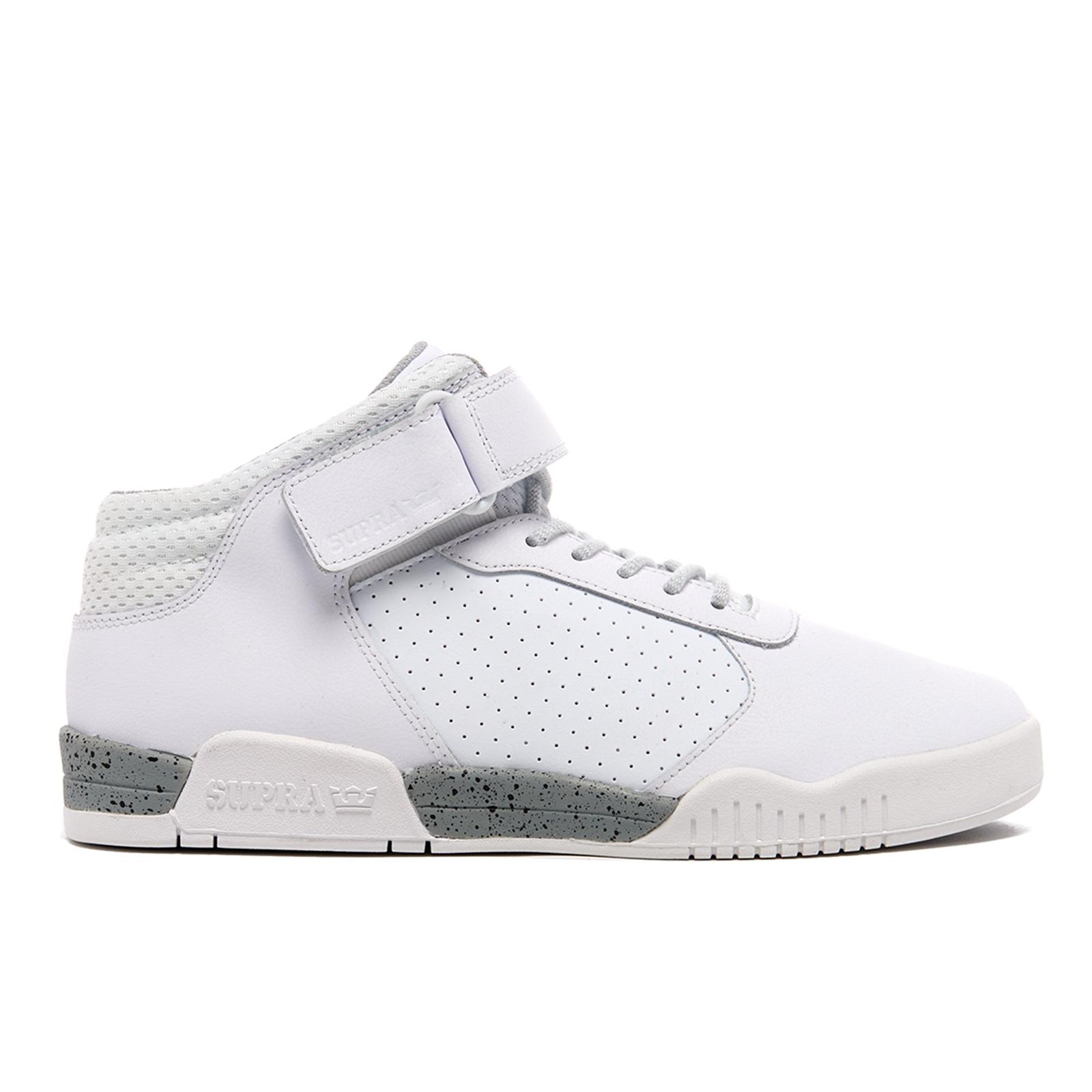buy popular e6f26 dd47d Baskets Ellington Strap Mid Top Supra -Blanc Mens Footwear   fr.zavvi