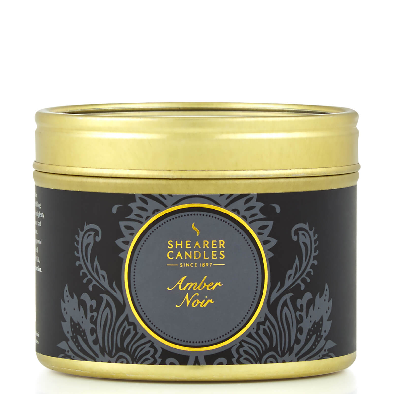 Luxury Small Tin Candle - Amber Noir