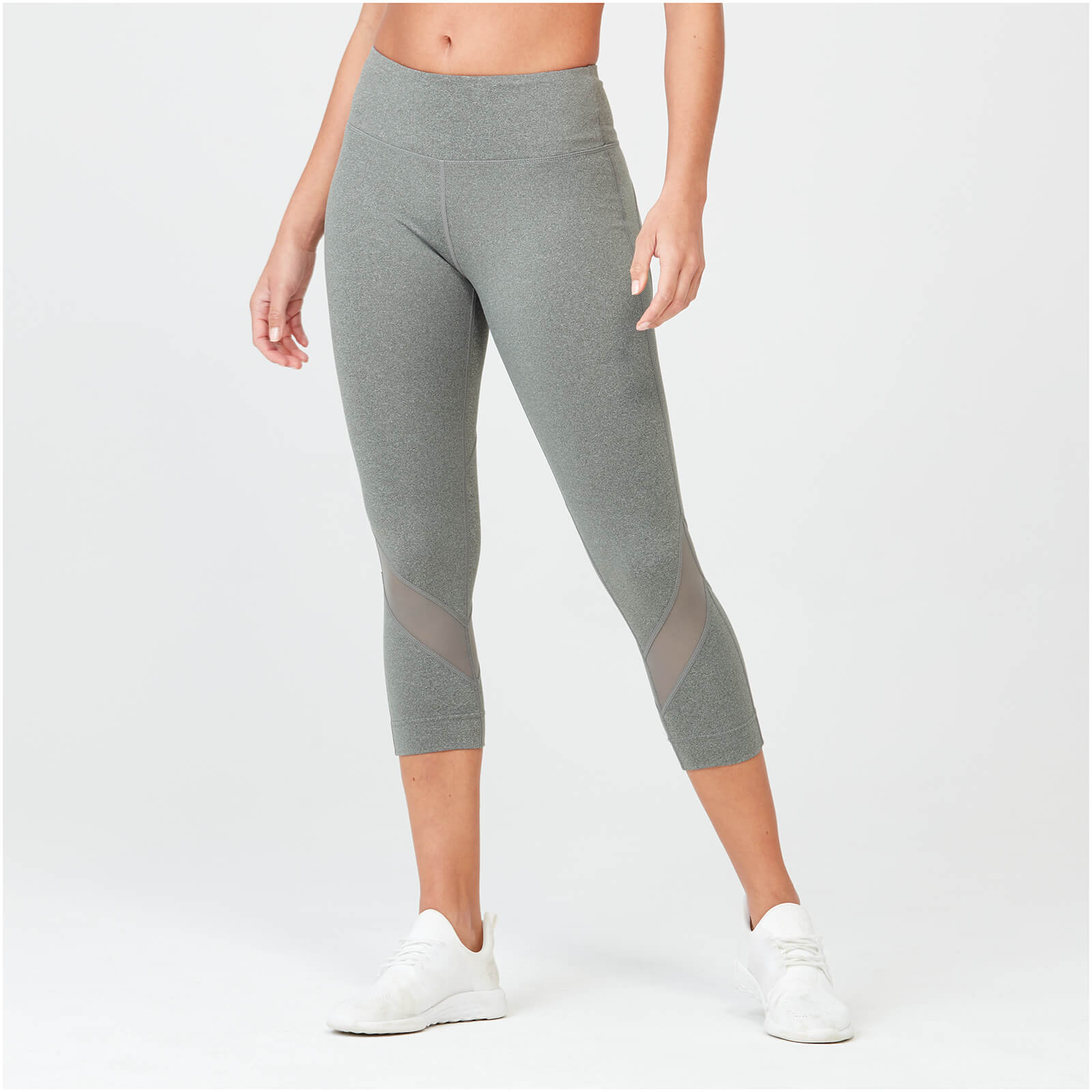 Myprotein Heartbeat Cropped Mesh Leggings - Grey - XS