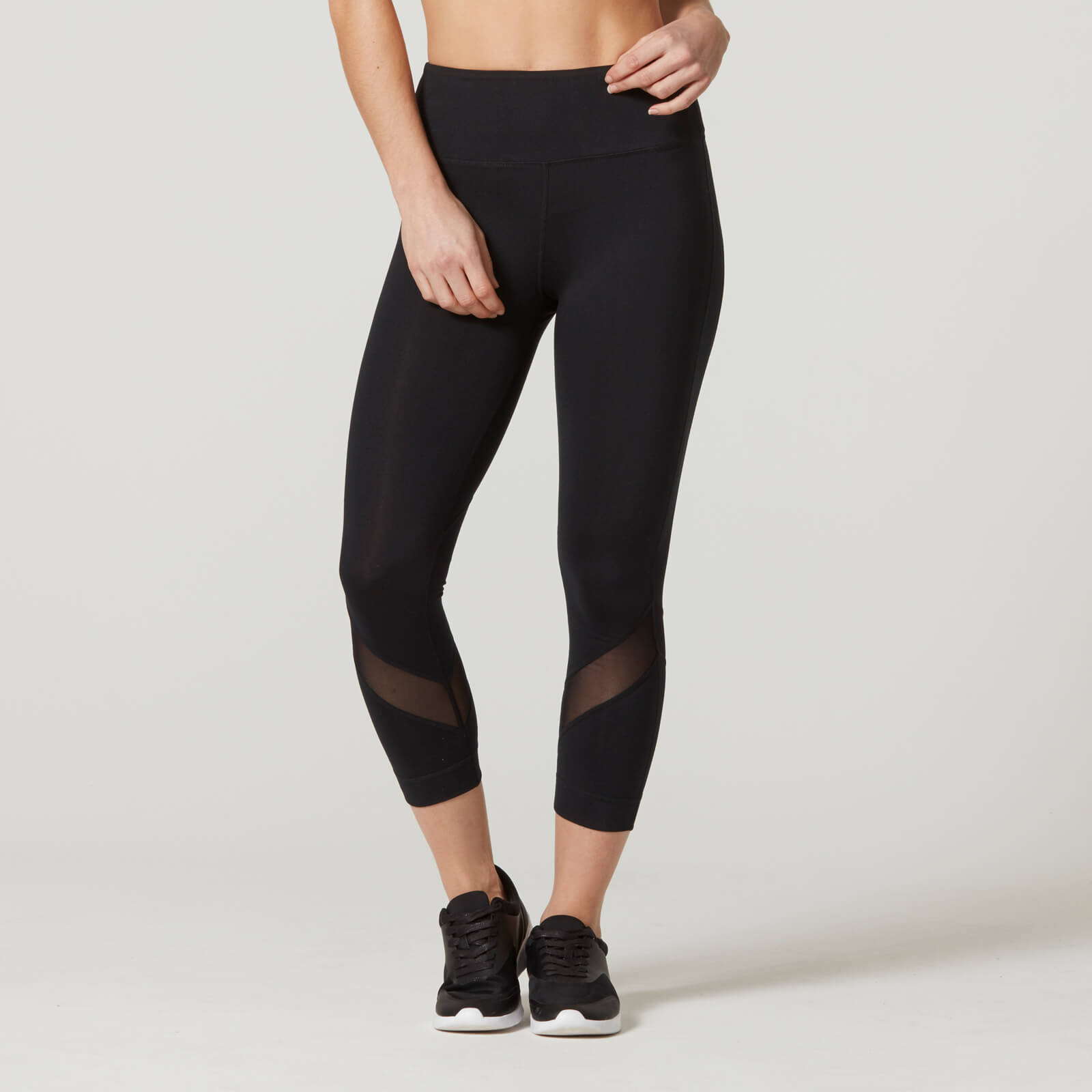 Myprotein Heartbeat Cropped Mesh Leggings - Black - XS