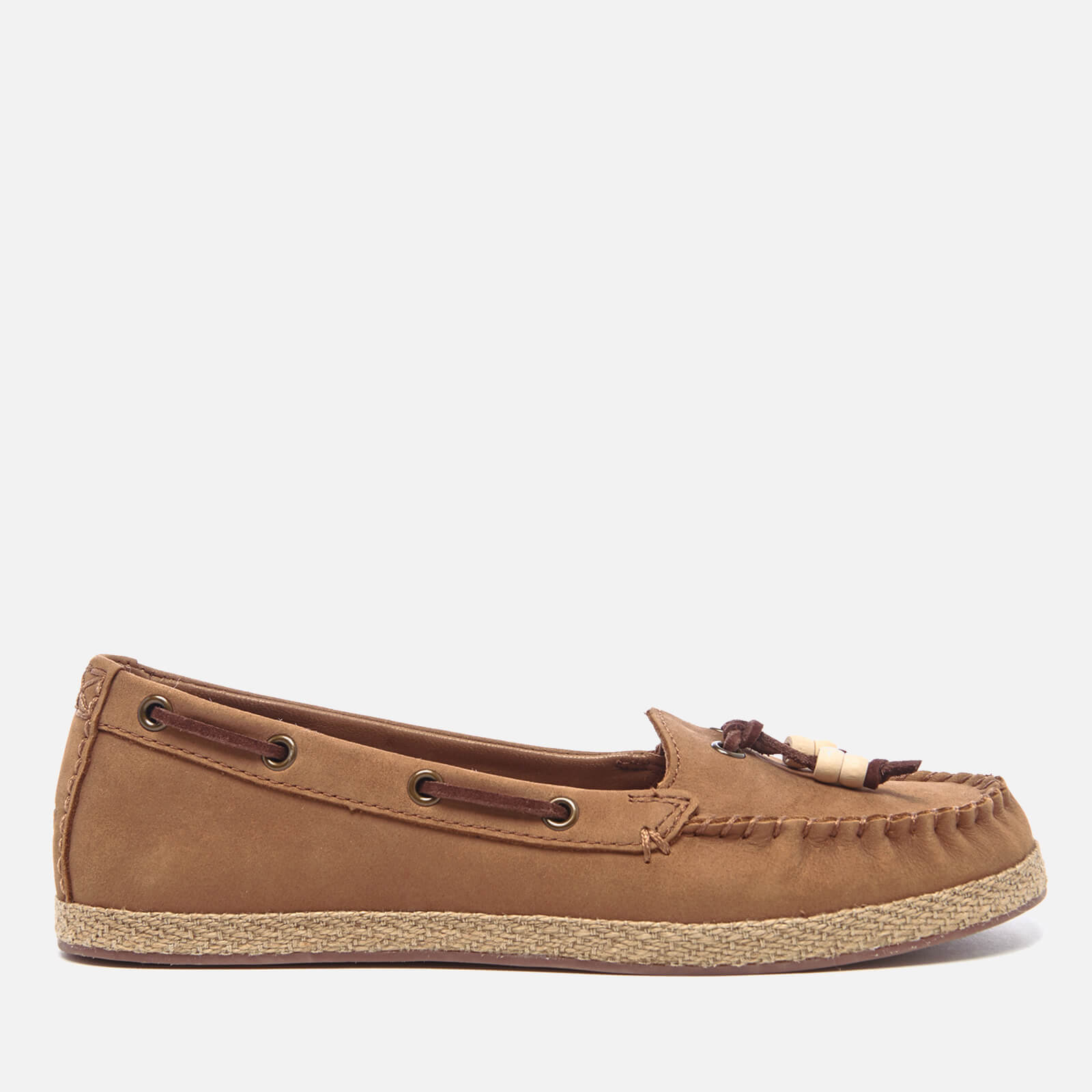 eece96f6ec9 UGG Women's Suzette Nubuck Moccasin Shoes - Chestnut | FREE UK ...
