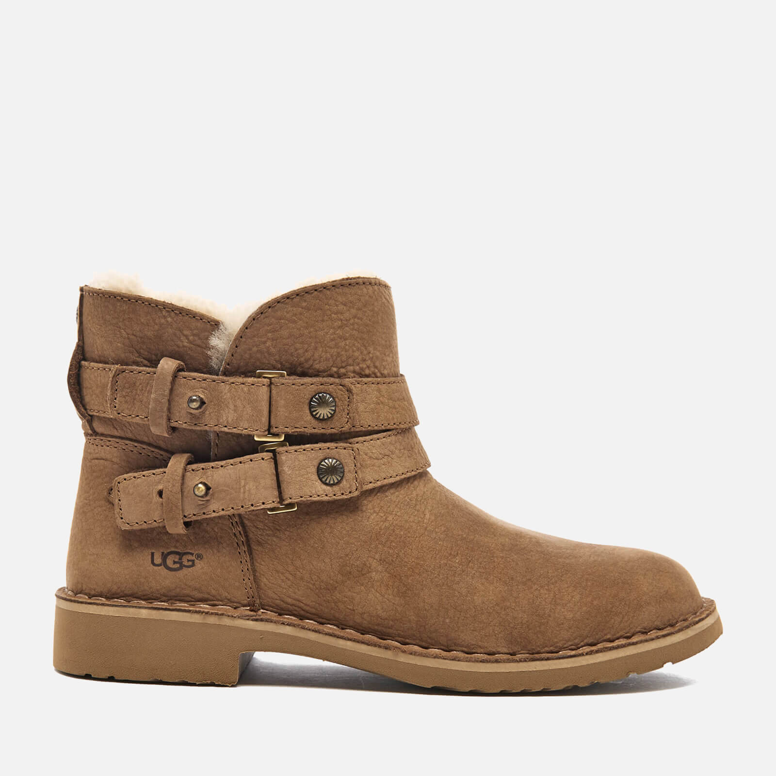ed0afd21030 UGG Women's Aliso Double Strap Nubuck Ankle Boots - Chestnut