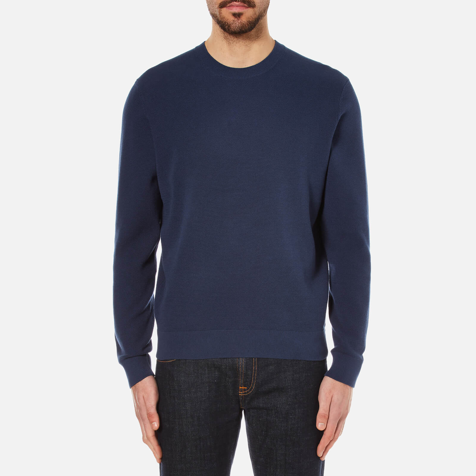 140ba59c919 PS by Paul Smith Men s Crew Neck Knitted Jumper - Indigo - Free UK Delivery  over £50