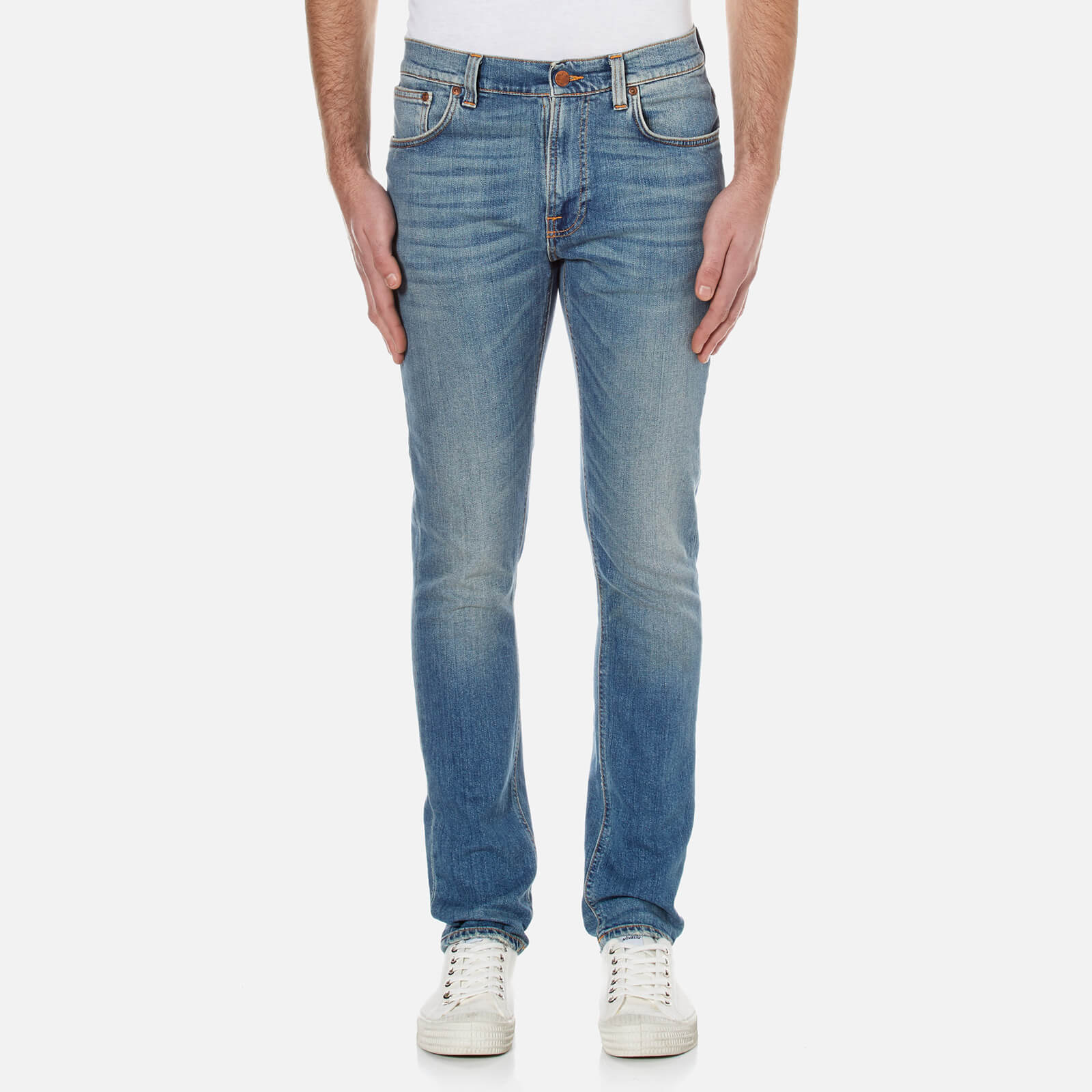 b065f1764085 Nudie Jeans Men s Long John Skinny Jeans - Black Blizzard - Free UK  Delivery over £50