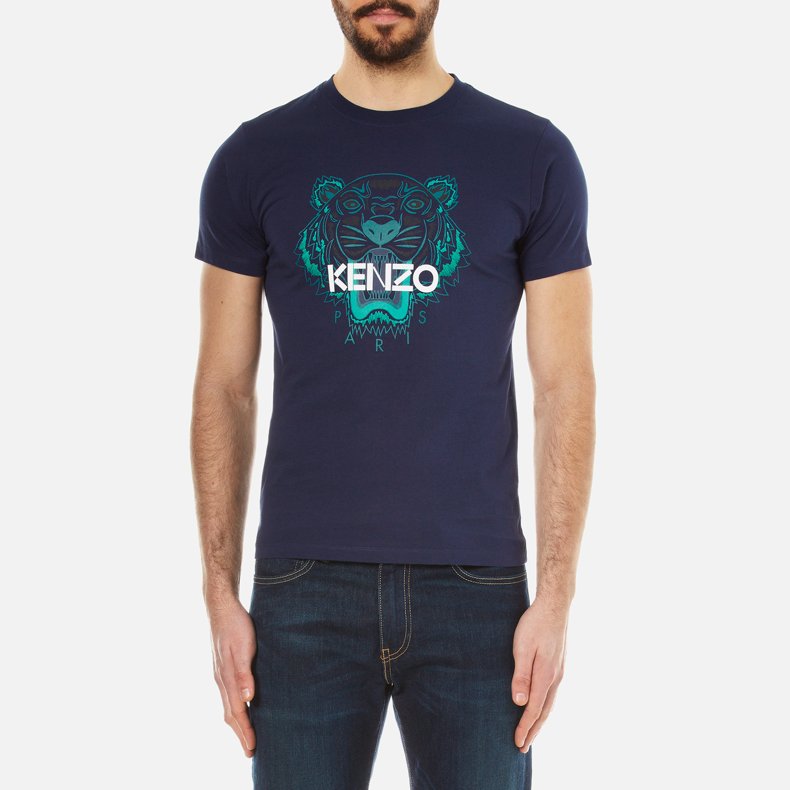 af636625ca33 KENZO Men's Printed Tiger T-Shirt - Navy - Free UK Delivery over £50