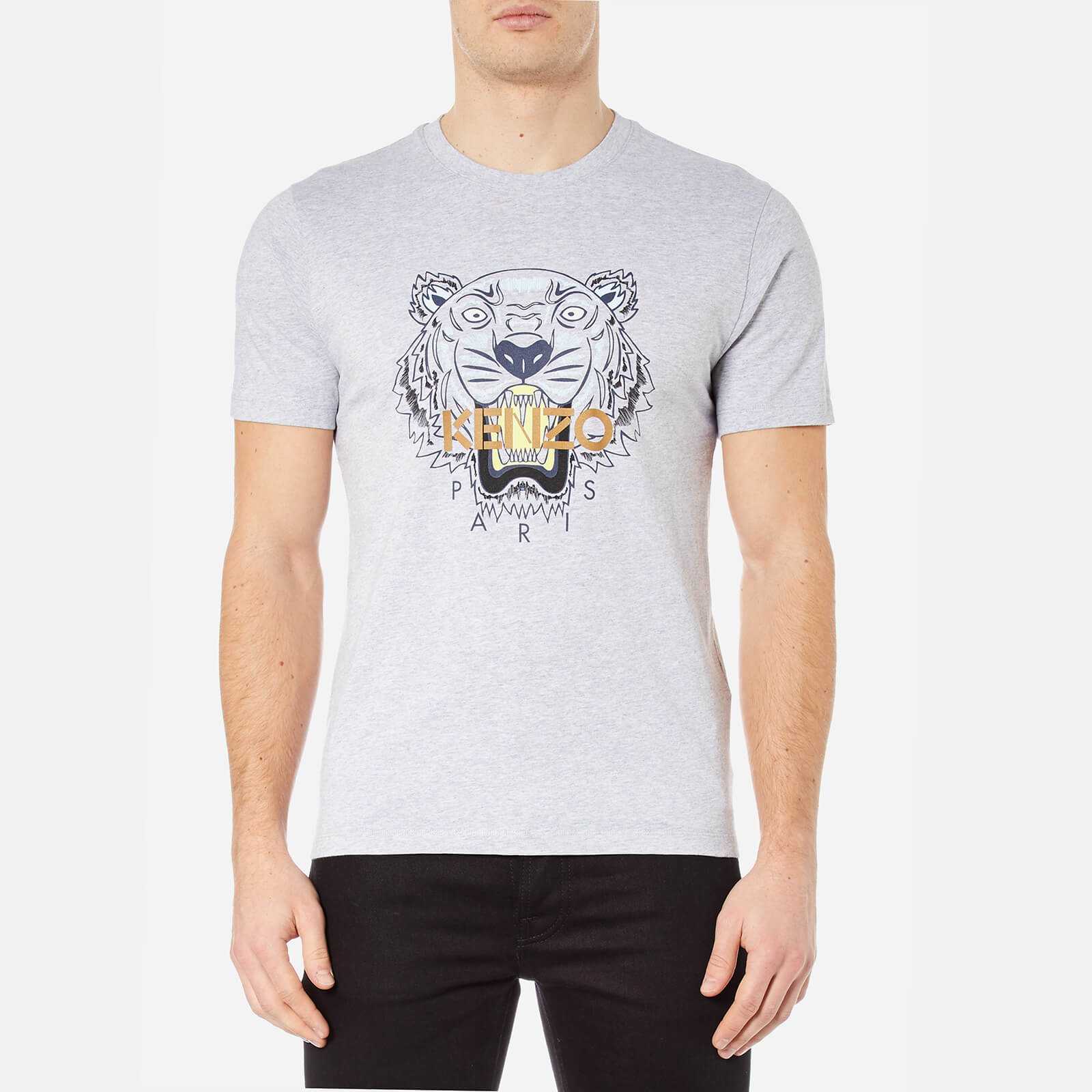 9a125352bbfc KENZO Men s Printed Tiger T-Shirt - Pearl Grey - Free UK Delivery over £50