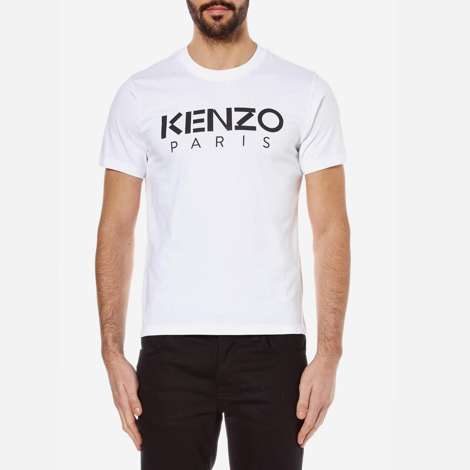 b7d38582 KENZO Men's Kenzo Paris Logo T-Shirt - White - Free UK Delivery over £50