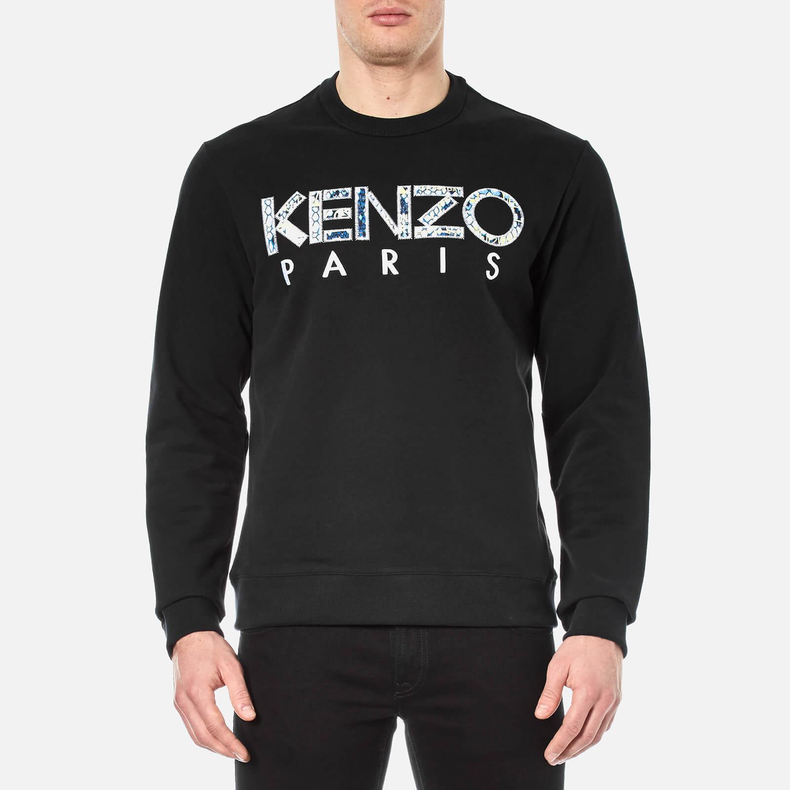 88fb7eaf30 KENZO Men's Python Logo Sweatshirt - Black