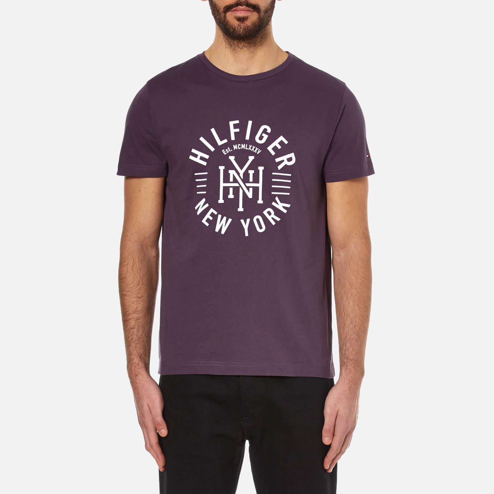 0d65c87cd751 Tommy Hilfiger Men's Maddock Printed Crew Neck T-Shirt - Sweet Grape  Clothing | TheHut.com