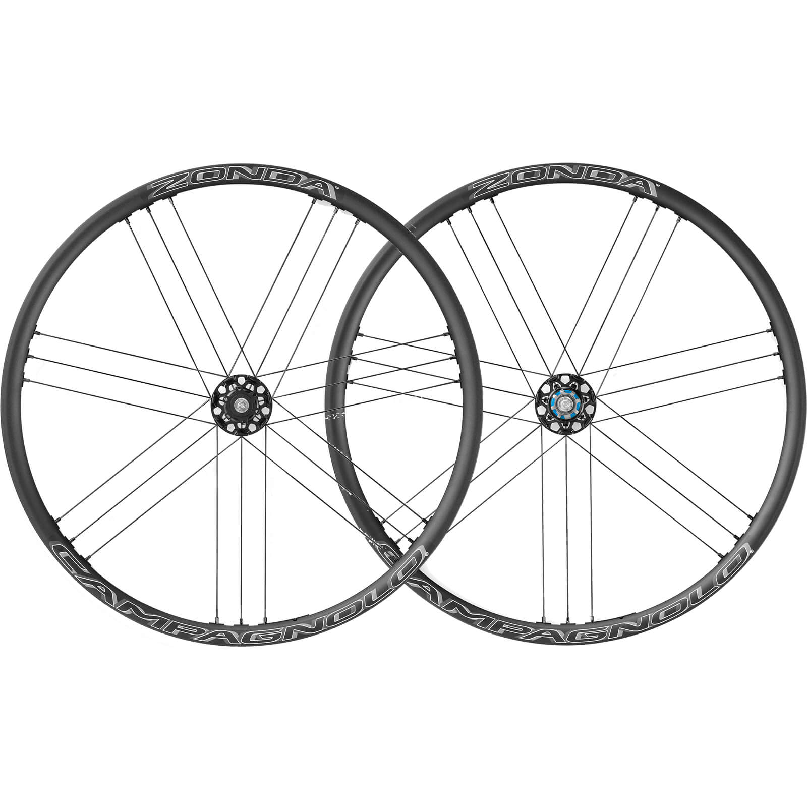 Campagnolo Zonda C17 Disc Brake Bolt-Thru Clincher Wheelset 2018 - Black