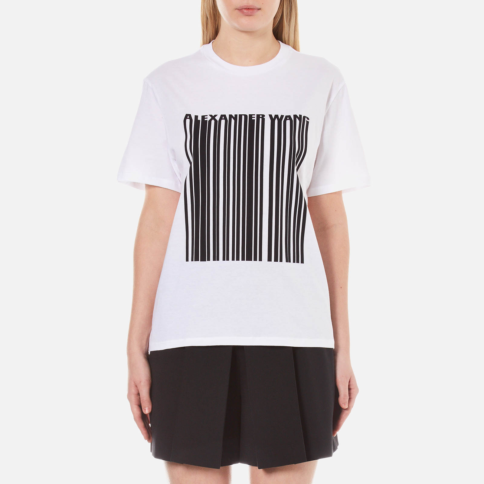 856a321e158e9e Alexander Wang Women's Bonded Barcode Boxy Crew Neck T-Shirt - Bleach -  Free UK Delivery over £50