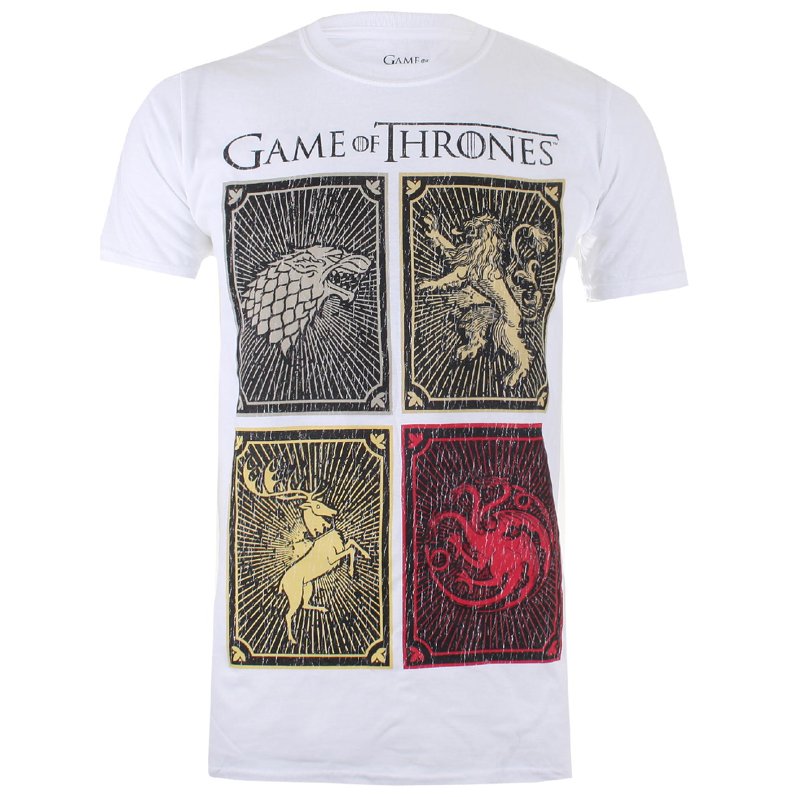 T-Shirt Homme Game of Thrones House Carrés - Blanc