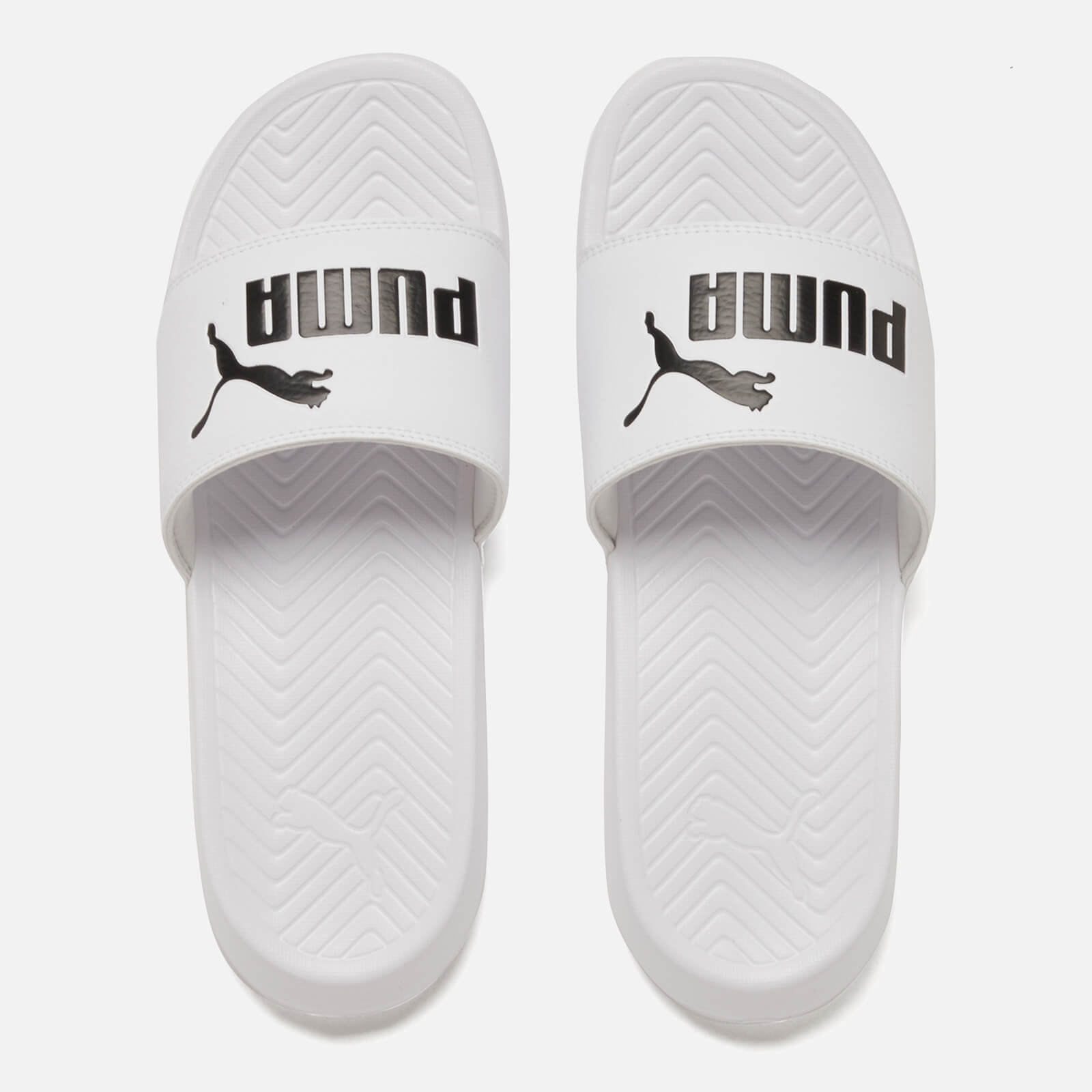 5a2b3aa9df45 Puma Popcat Slide Sandals - White Black - Free UK Delivery over £50