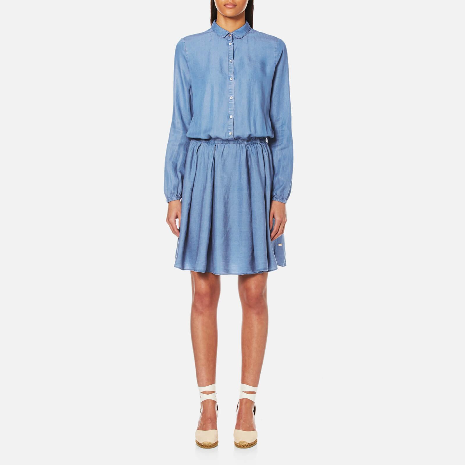 3fa446ce308d BOSS Orange Women s Clace Dress - Open Blue - Free UK Delivery over £50