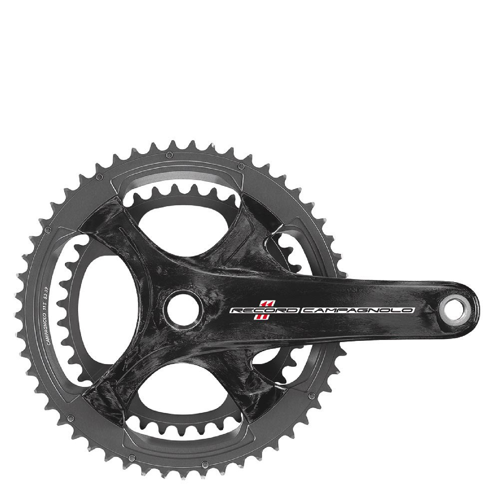 Campagnolo Record 11 Speed Ultra Torque Carbon Chainset - Black