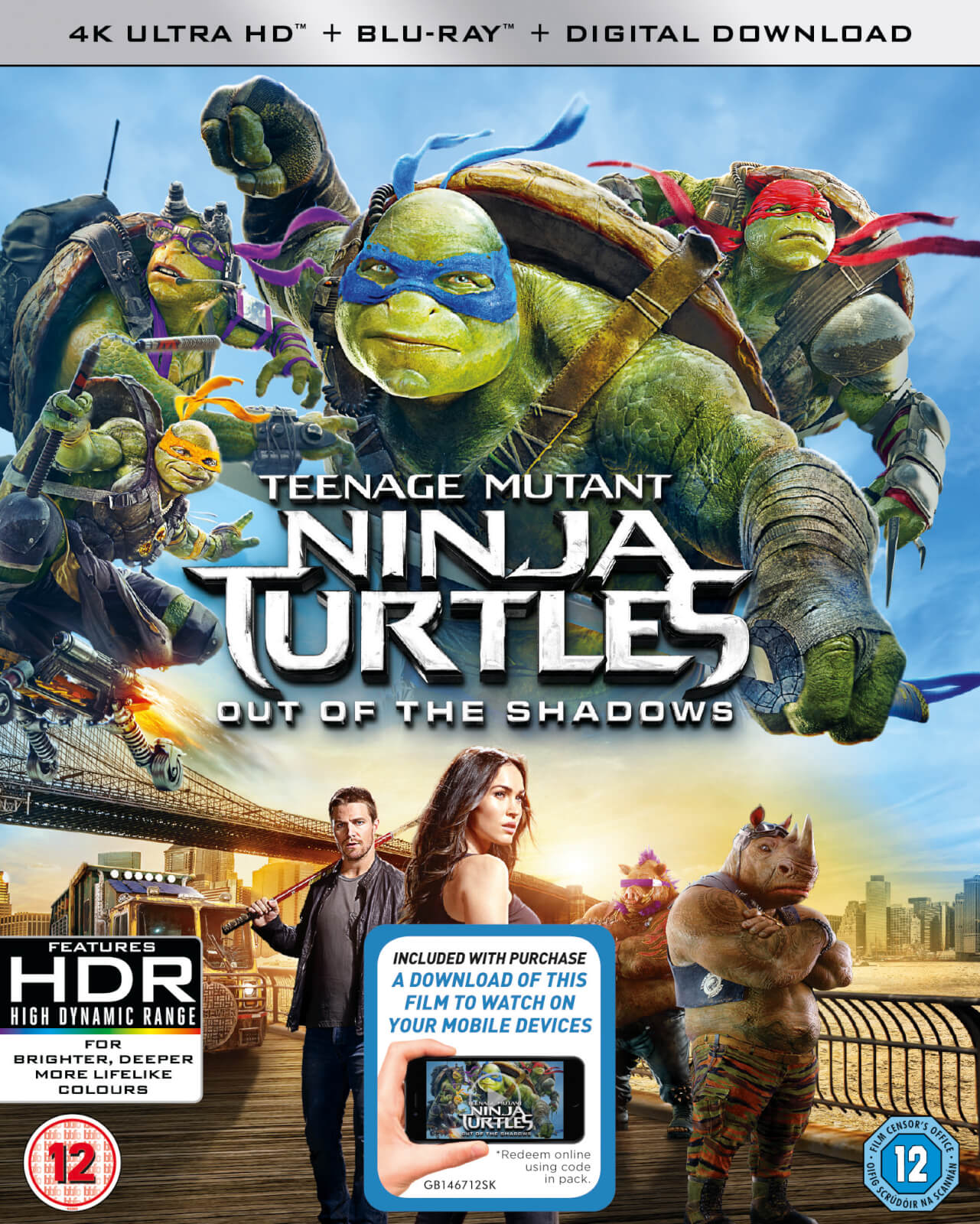 Ninja Turtles 2 - 4K Ultra HD