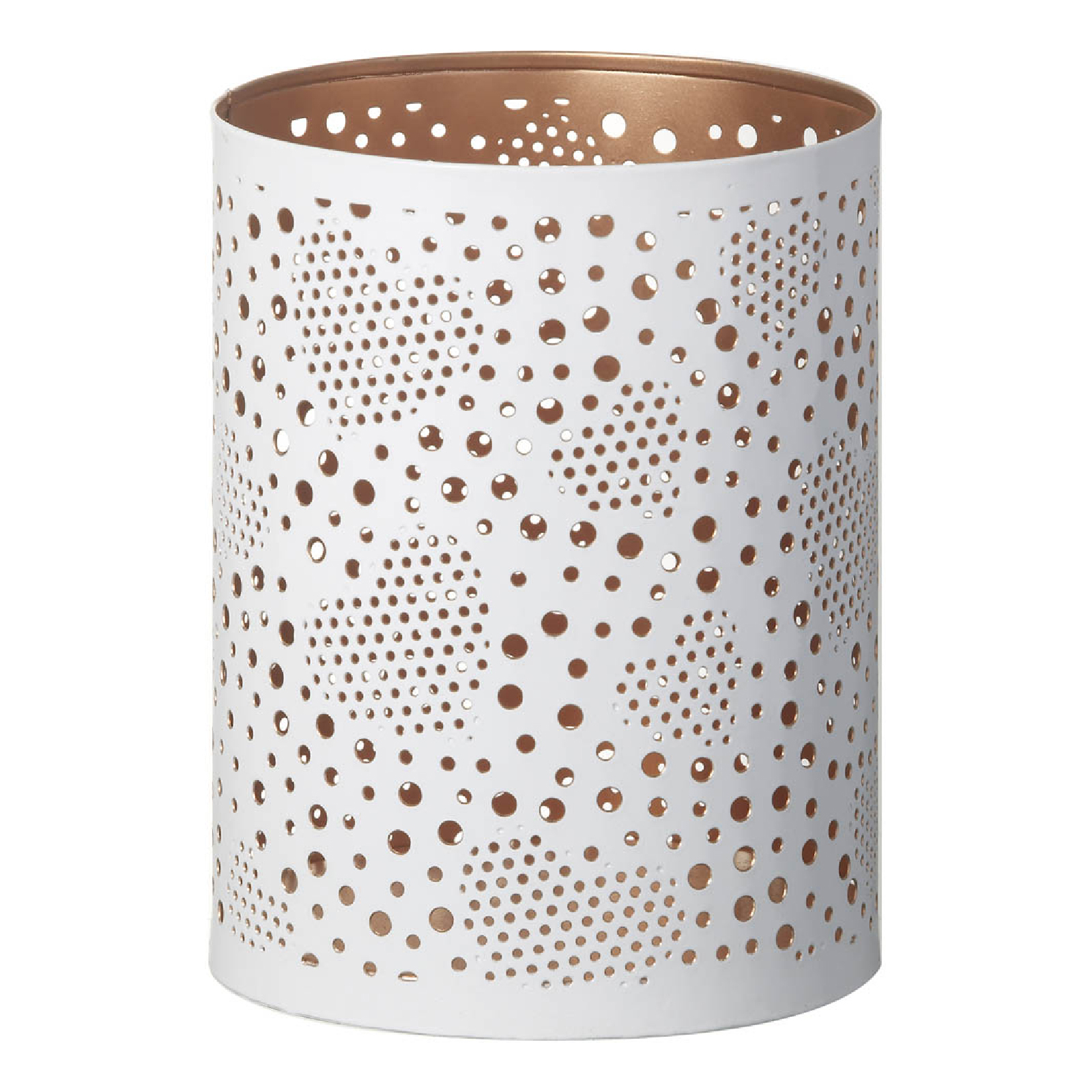 Parlane Zia Metal Candle Holder - White (12cm x 15.5cm)