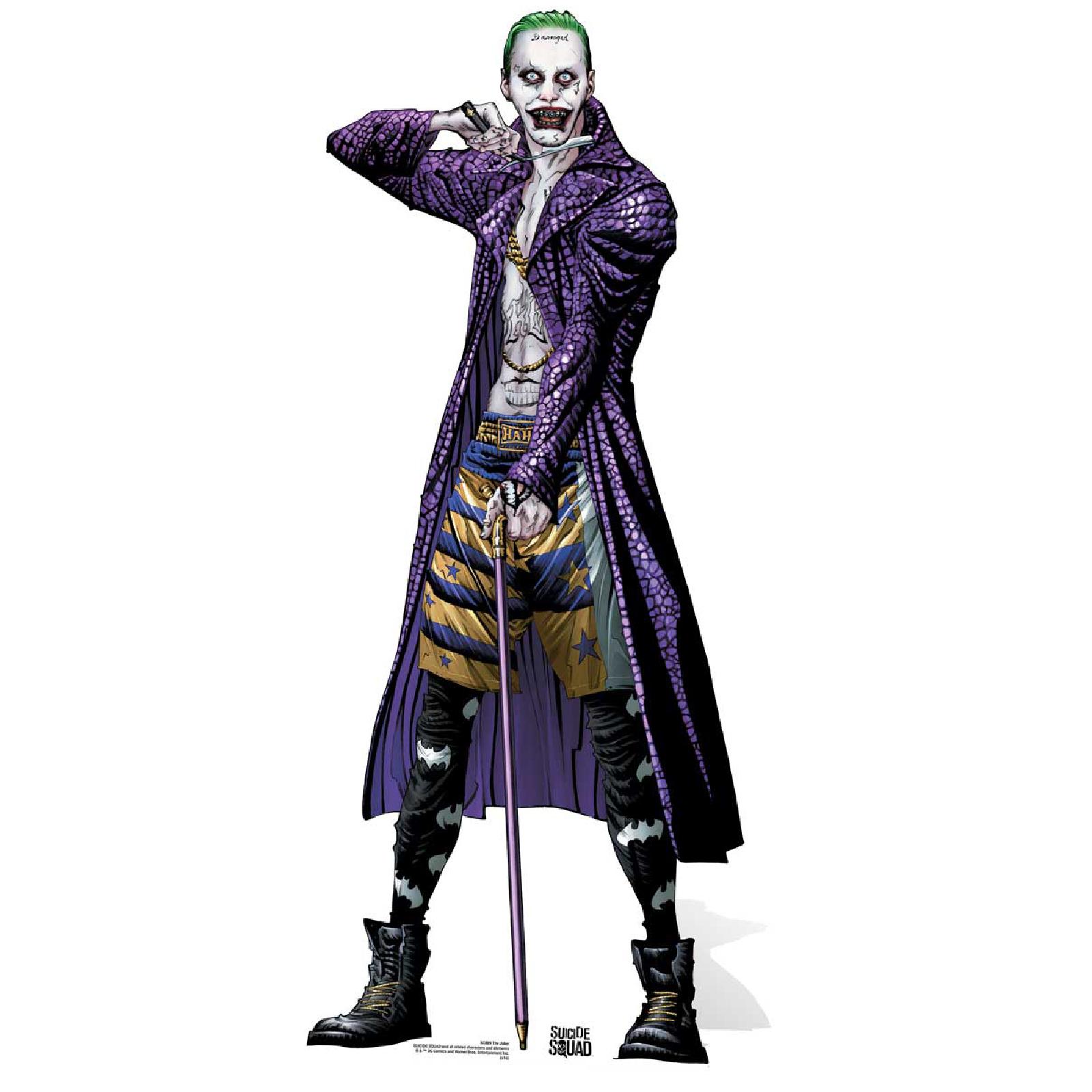 Suicide Squad Joker Halloween Costume.Suicide Squad The Joker Comic Artwork Cutout