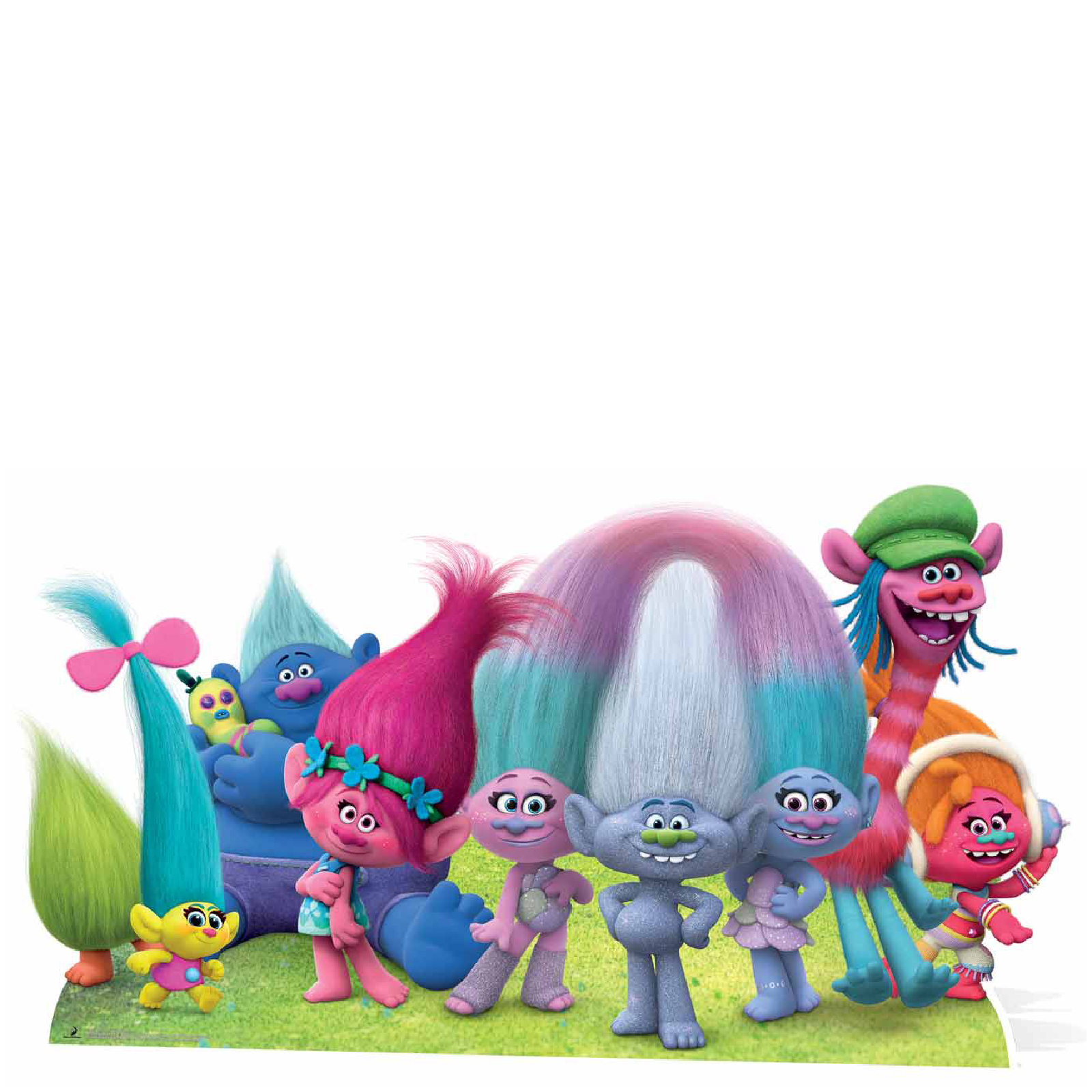 Trolls True Colours Group Cutout