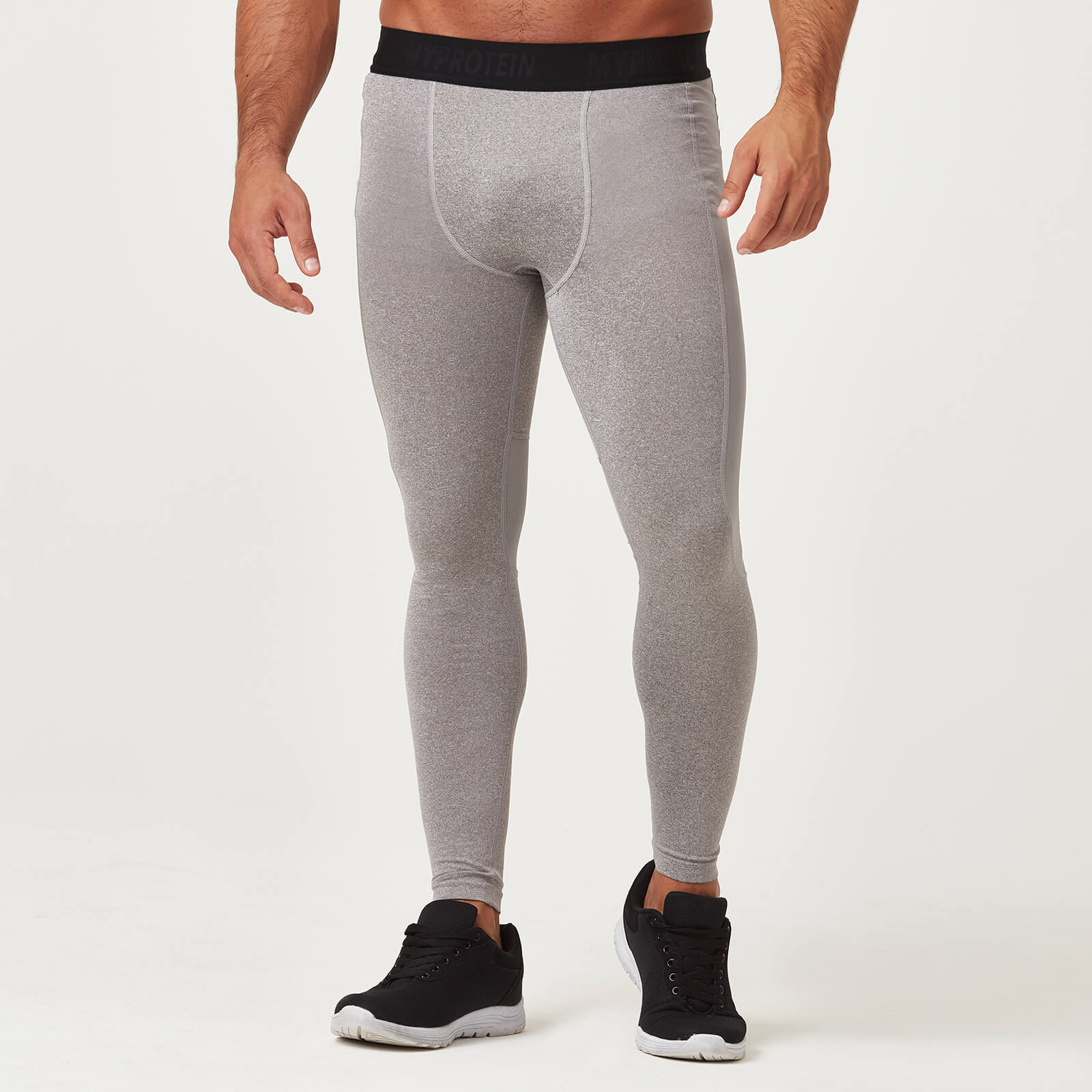Compression Tights - Grey Marl - S