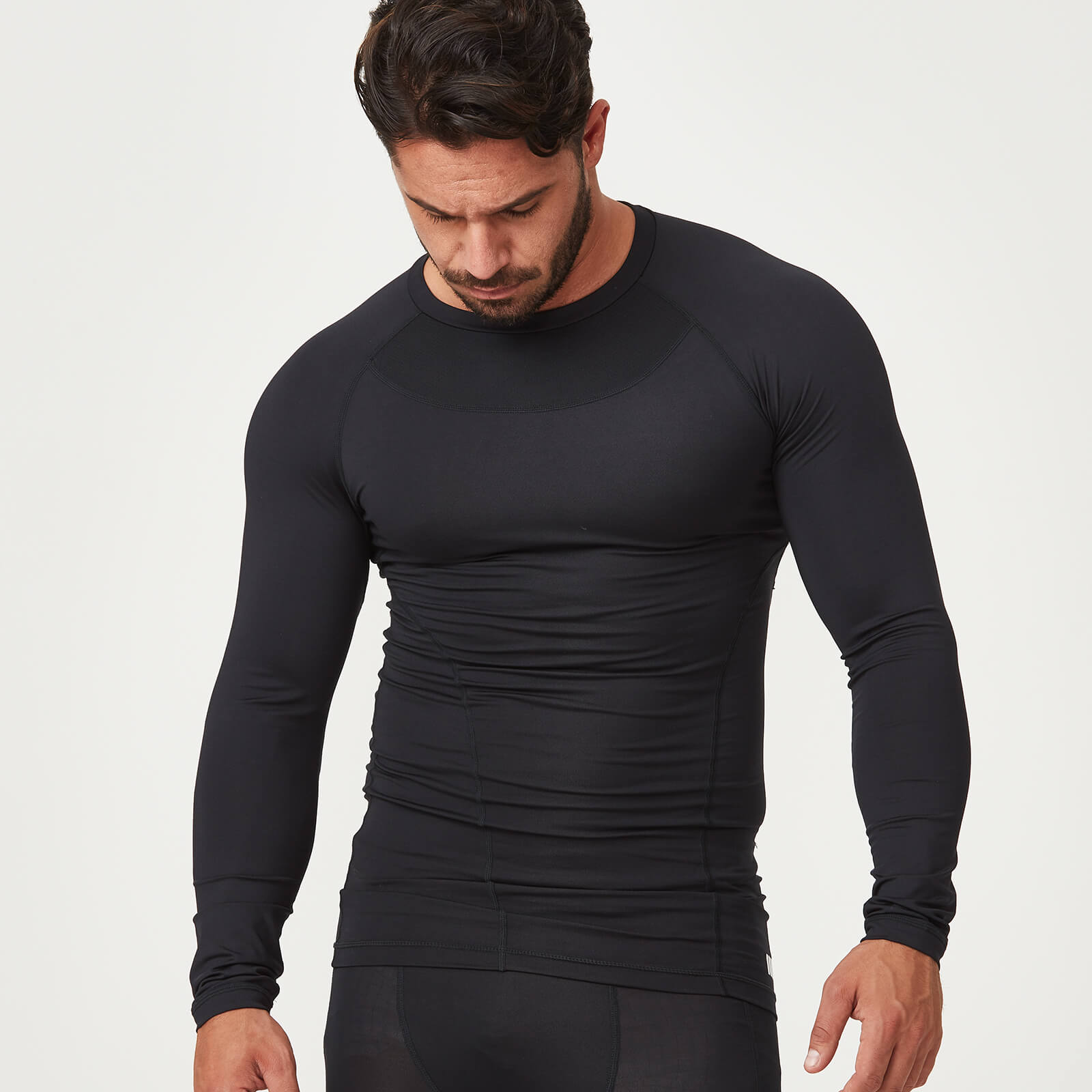Myprotein Compression Long Sleeve Top - Black - S