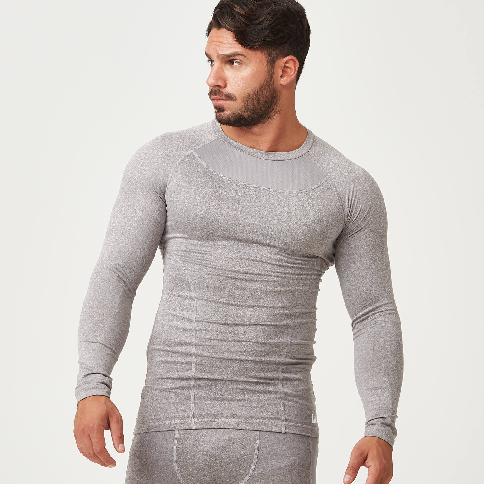 Myprotein Compression Long Sleeve Top - Grey Marl - S