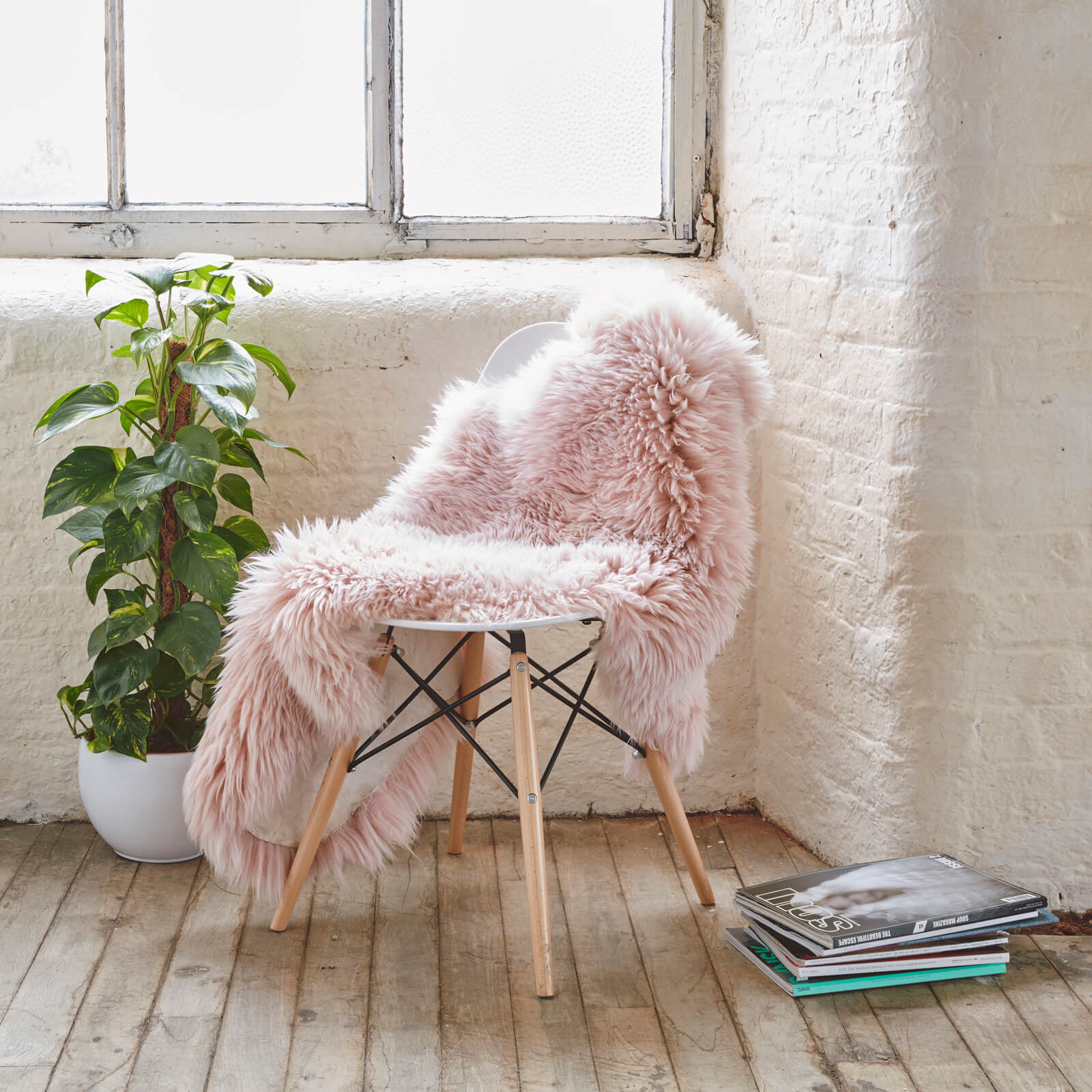 Royal Dream Large Sheepskin Rug - Heavenly Pink