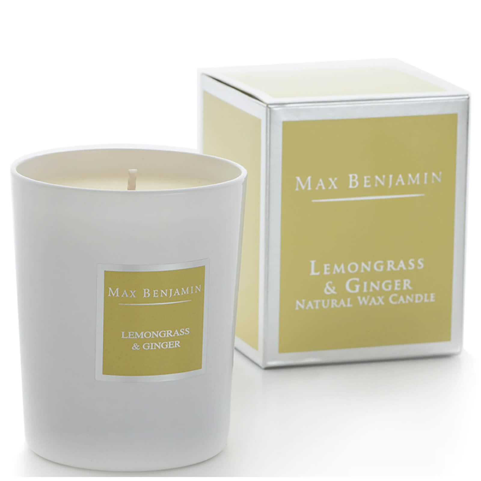 Max Benjamin Scented Glass Candle in Gift Box - Lemongrass and Ginger
