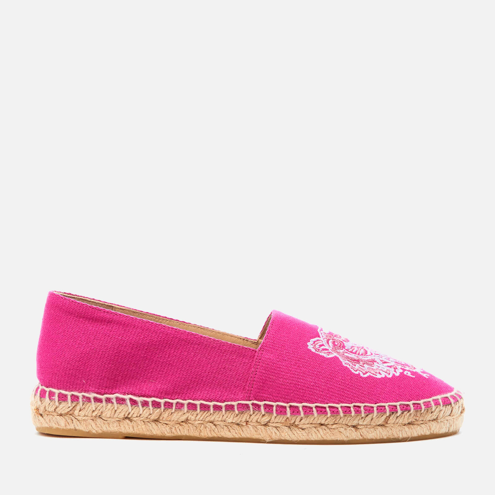 d970212de KENZO Women's Canvas Tiger Espadrilles - Deep Fuchsia - Free UK Delivery  over £50
