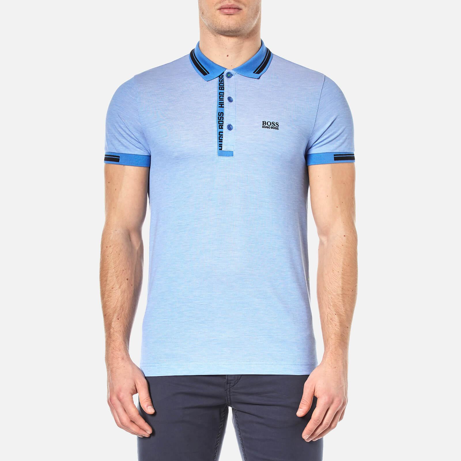 aac66055f BOSS Green Men's Paule 4 Polo Shirt - Medium Blue - Free UK Delivery ...