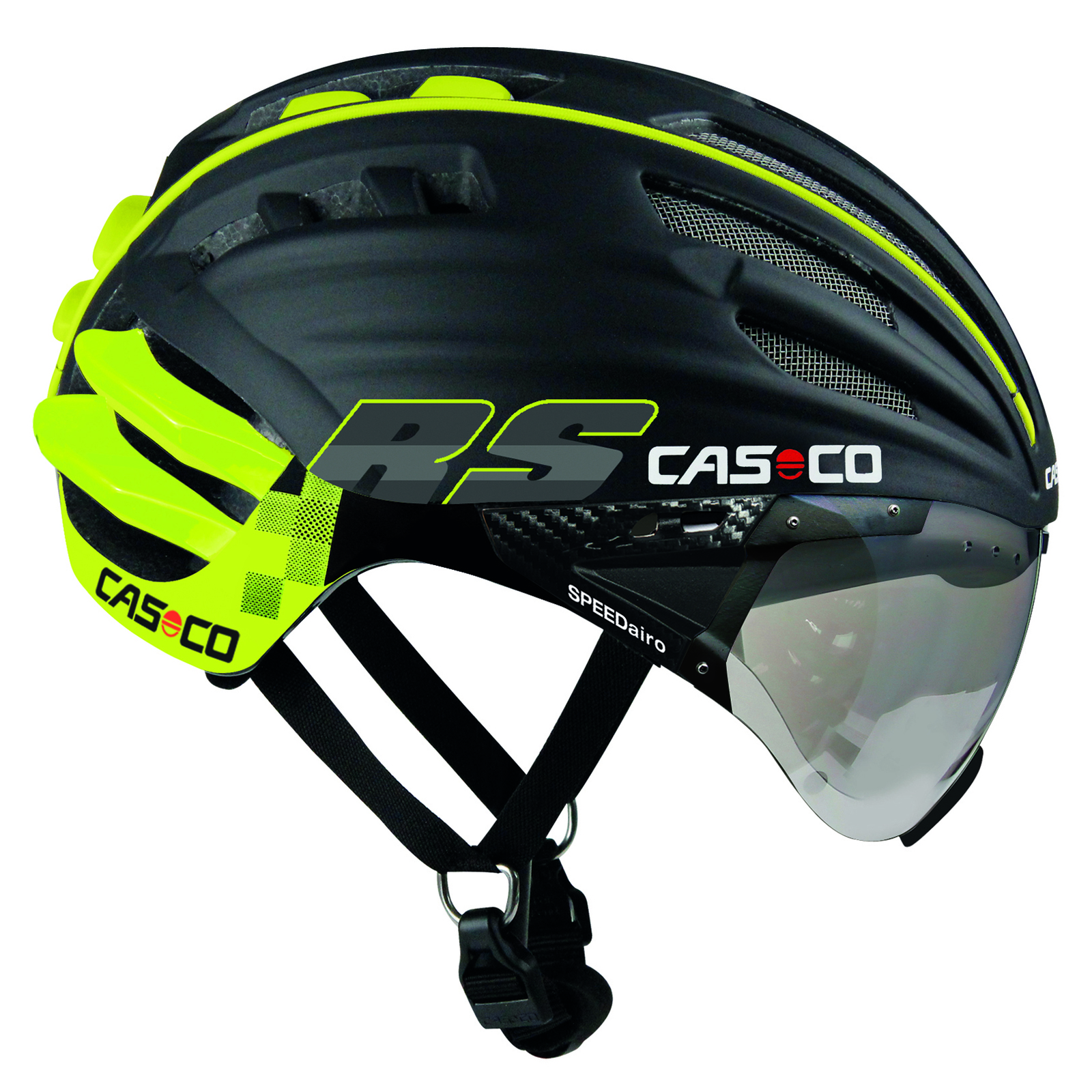 Casco Speedairo RS Helmet with Vautron Visor - Black/Neon
