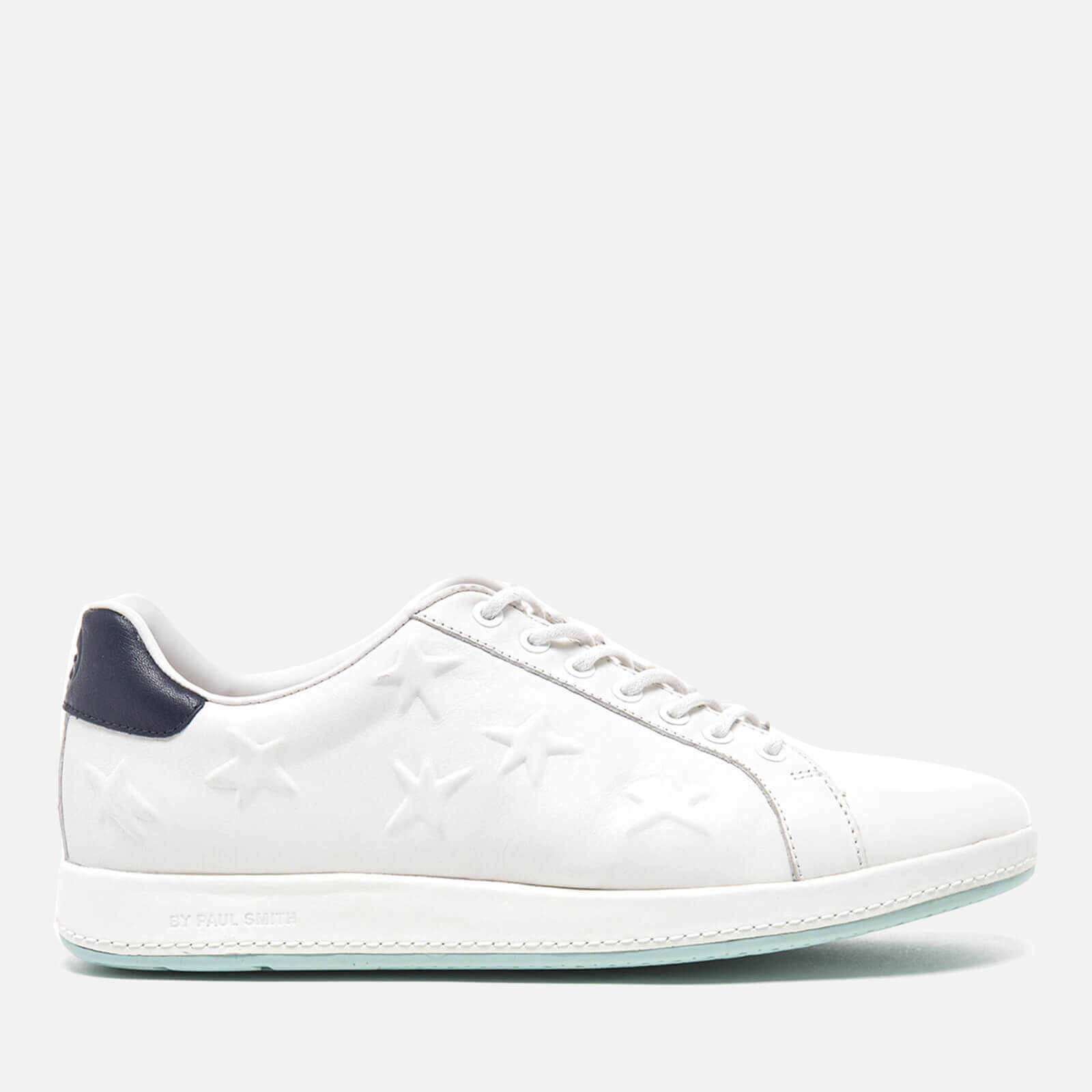 59f97f3e761 PS by Paul Smith Women's Lapin Star Embossed Trainers - White Mono Lux -  Free UK Delivery over £50