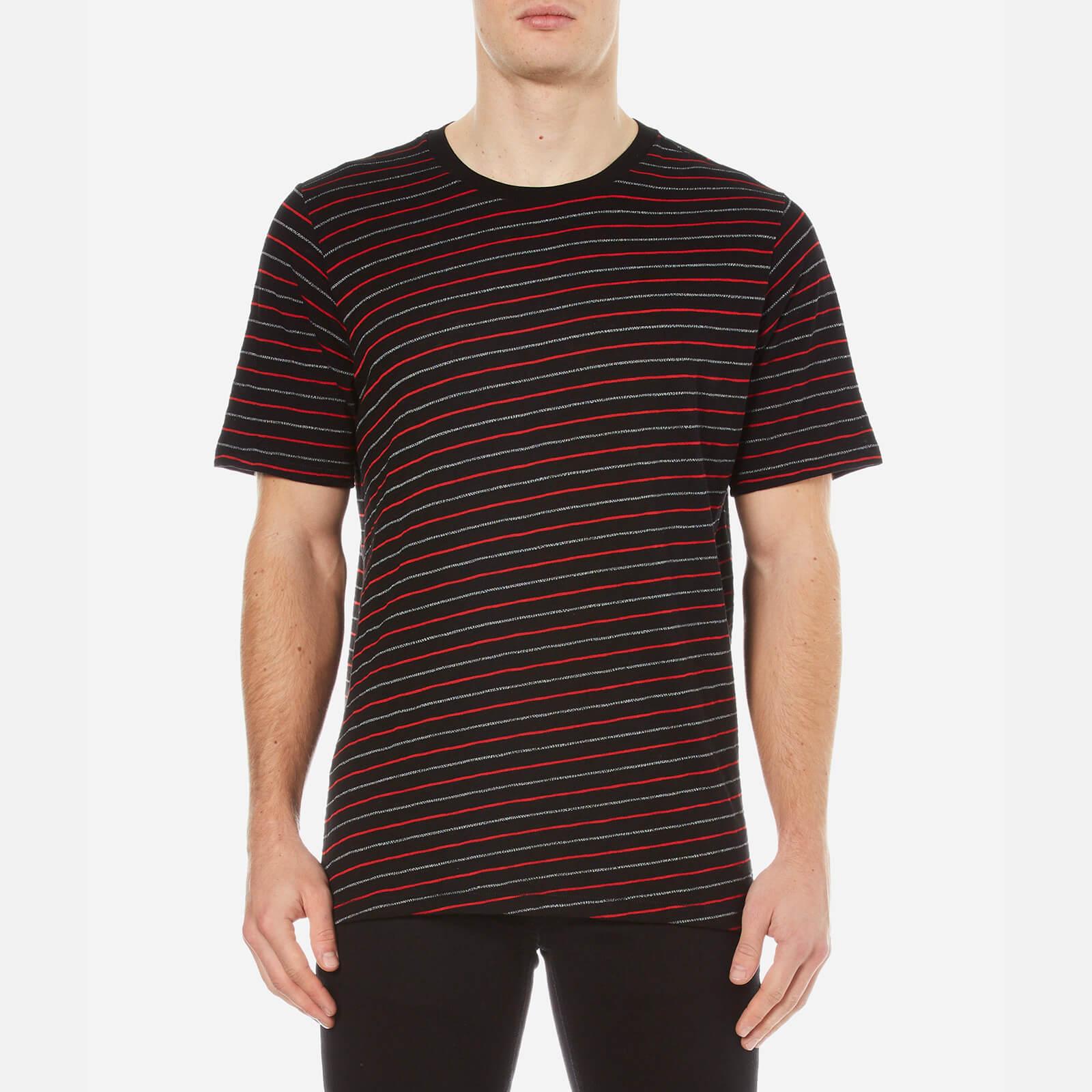 e5eb1696 rag & bone Men's Colin Striped T-Shirt - Black/Red - Free UK Delivery over  £50