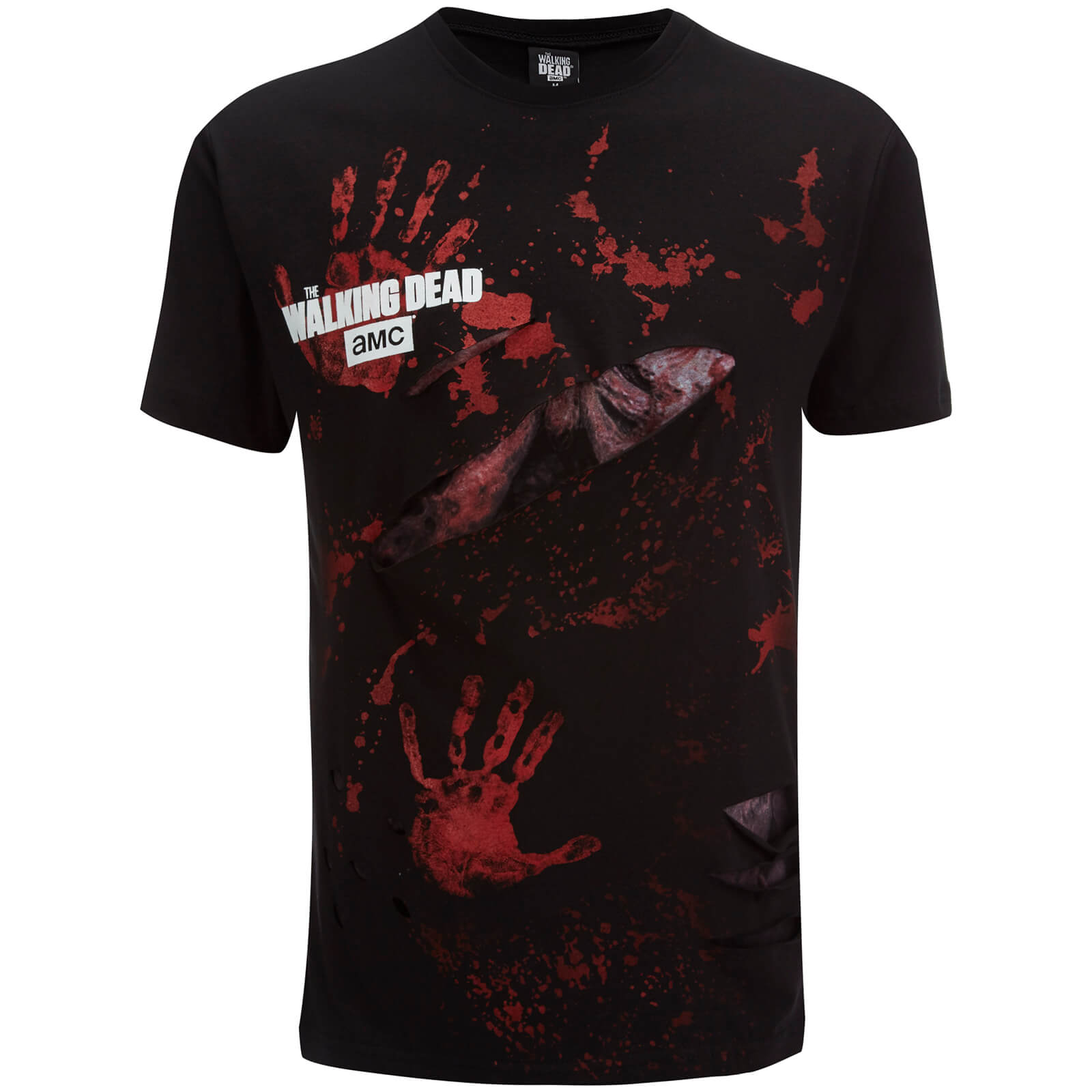 T-Shirt Homme Spiral Walking Dead Rick All Infected -Noir