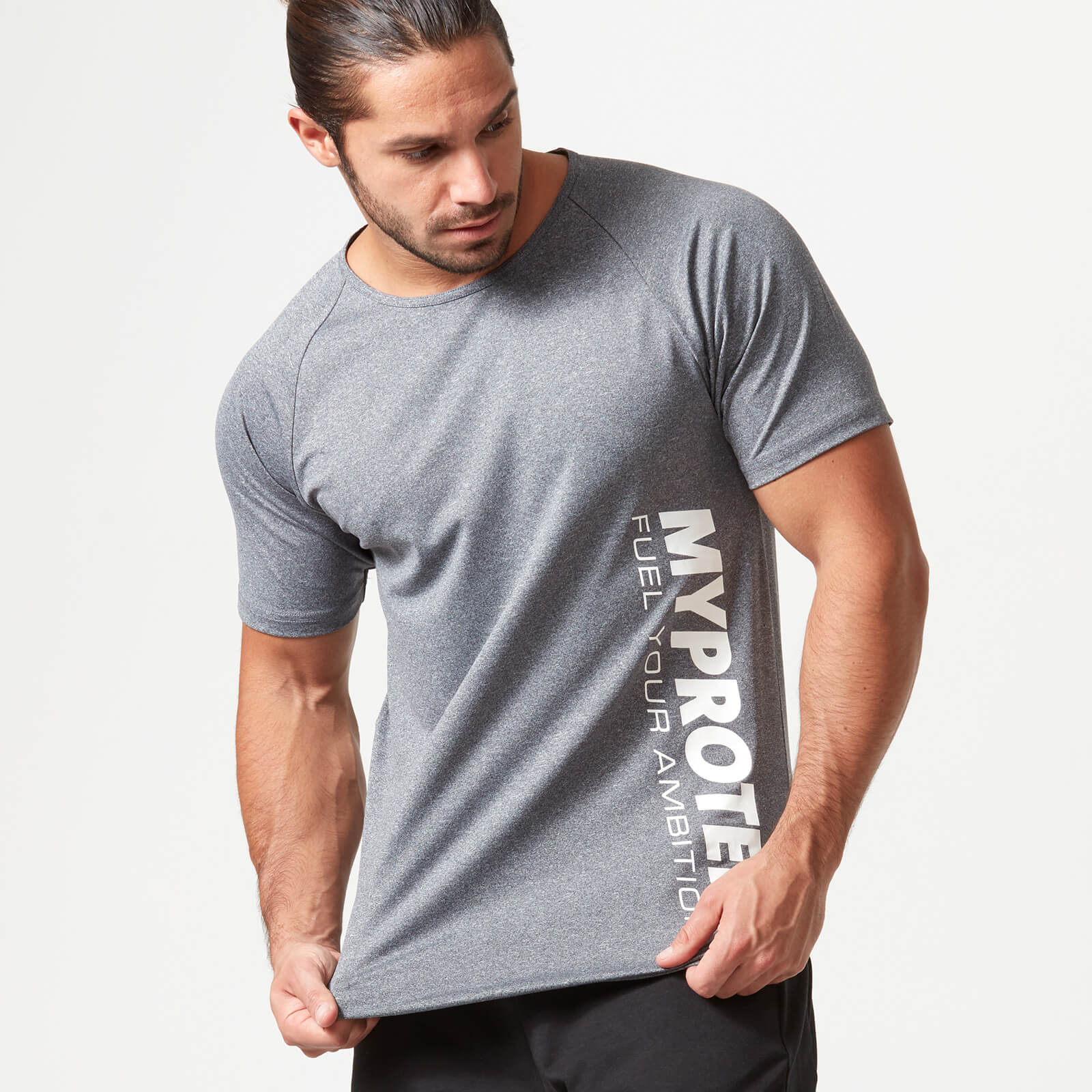 Bold Tech T-Shirt - Grey Marl - XXL