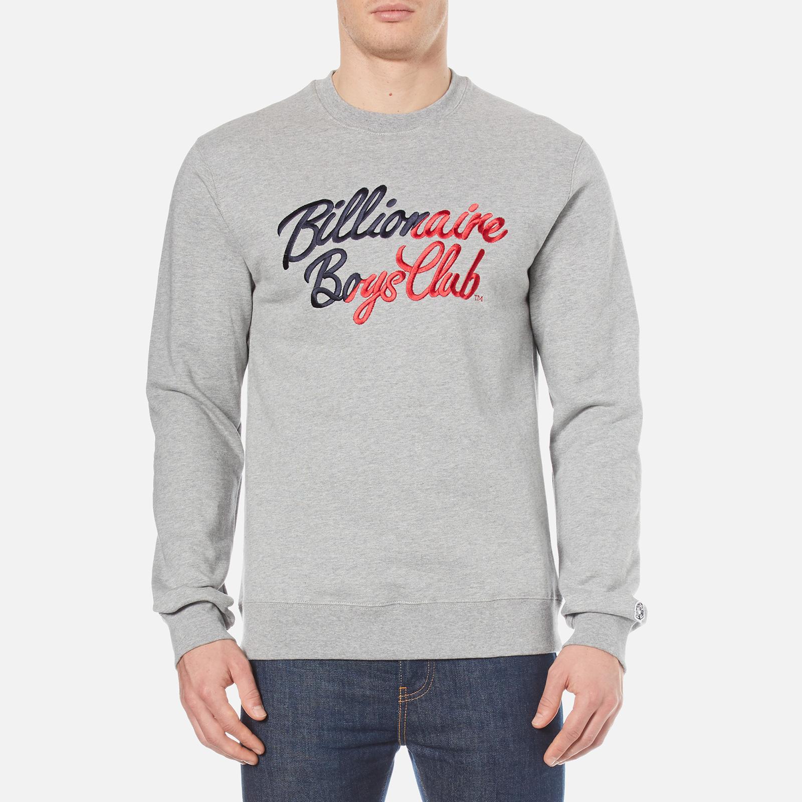 4c34994bc Billionaire Boys Club Men's Script Embroidered Sweatshirt - Heather Mens  Clothing | TheHut.com