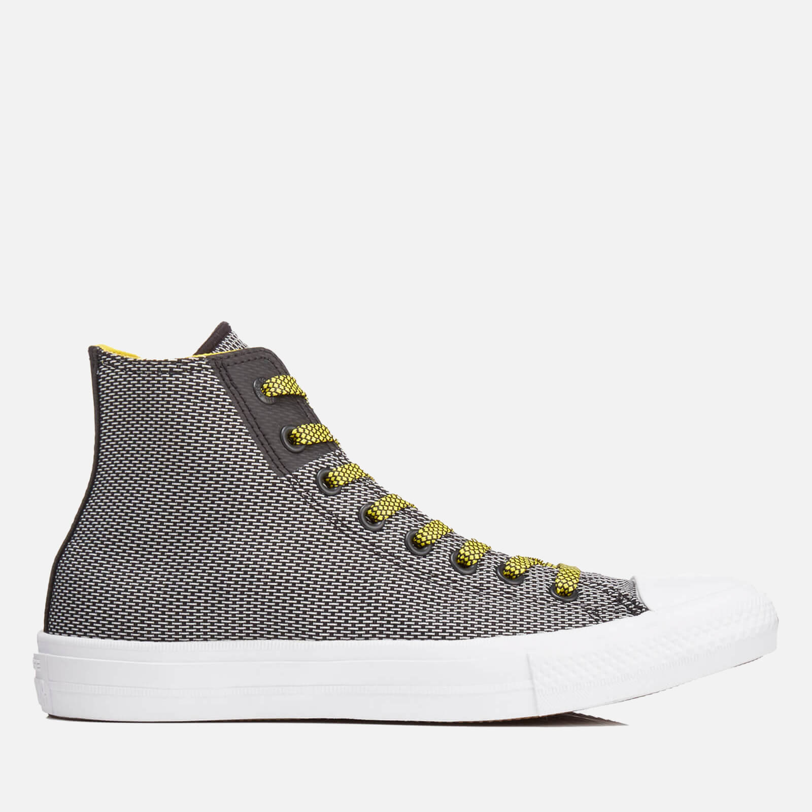 4dc0c9774383 Converse Men s Chuck Taylor All Star II Hi-Top Trainers - Black White Fresh  Yellow - Free UK Delivery over £50