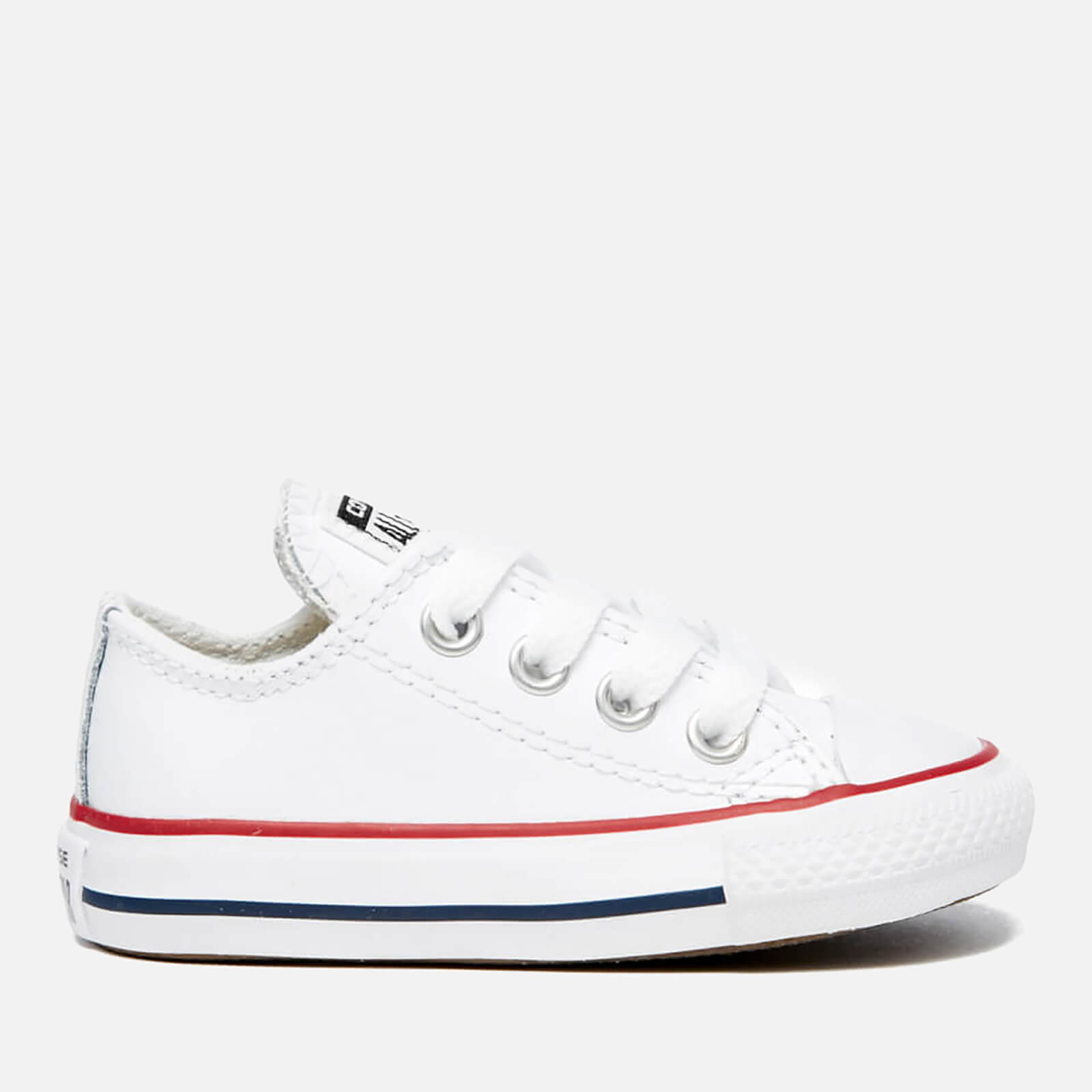 ff9473a29e35 Converse Toddlers  Chuck Taylor All Star Ox Trainers - White Garnet Navy  Junior Clothing